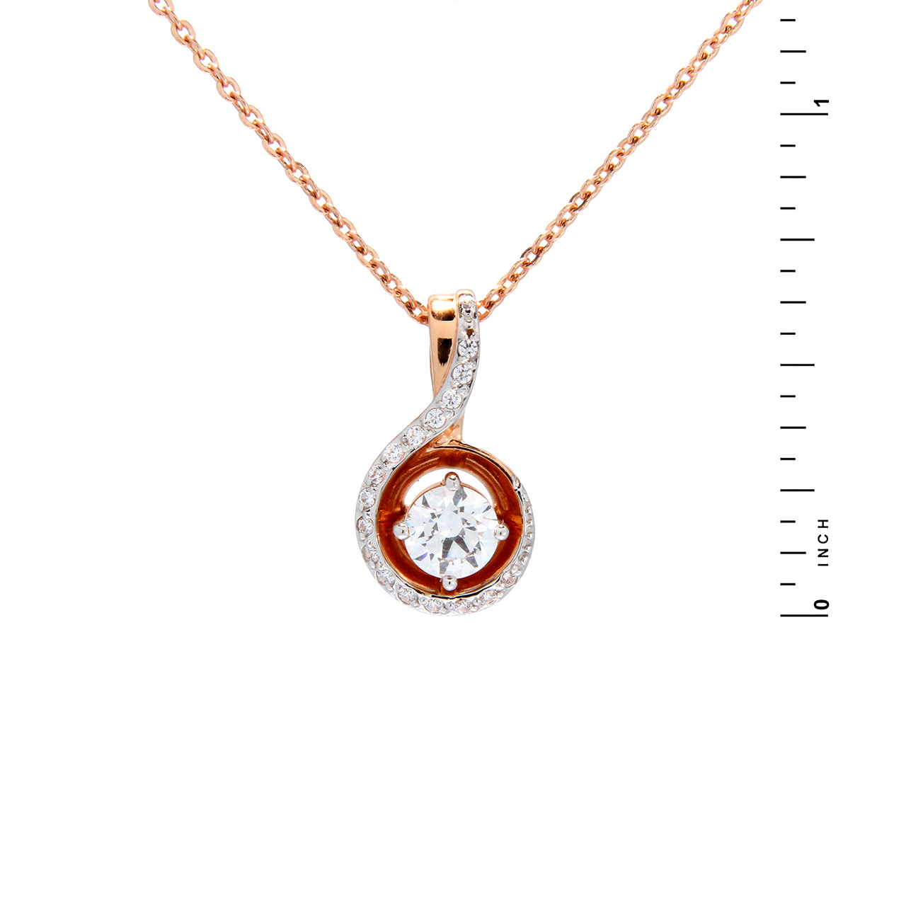 Two tones of rose gold pendant 1