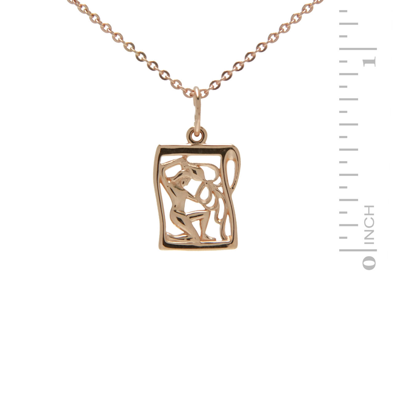 Rose Gold Pendant 'Aquarius Zodiac'