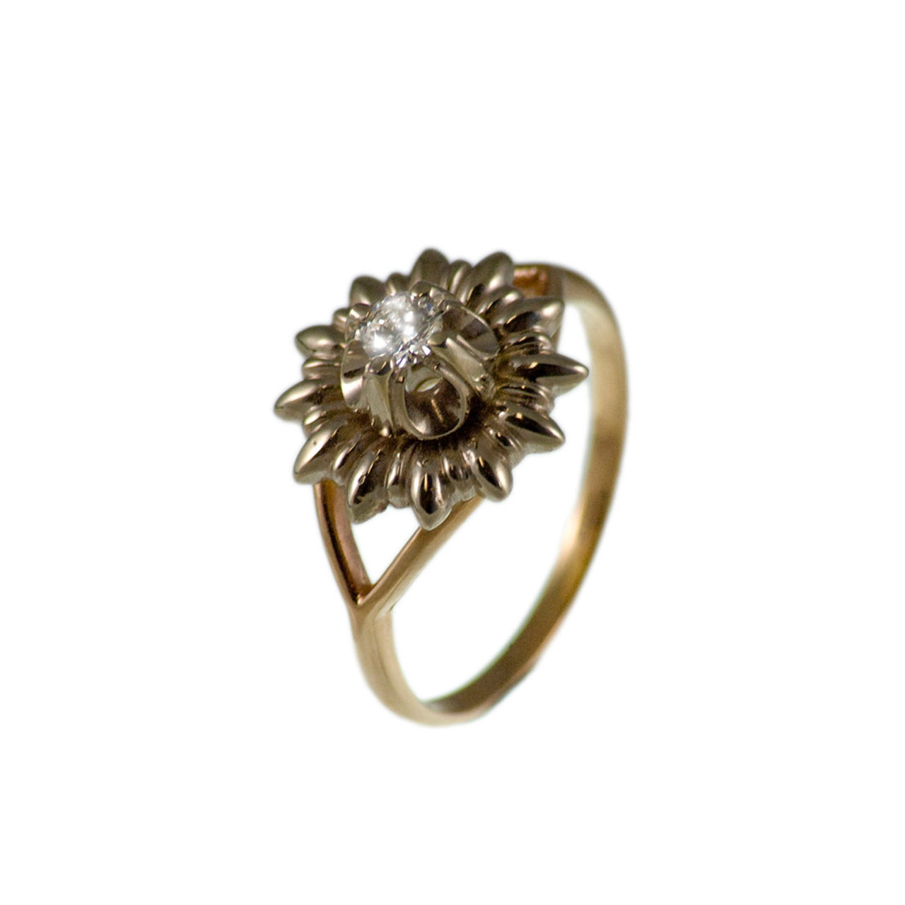 Water Lily-inspired Diamond Ring