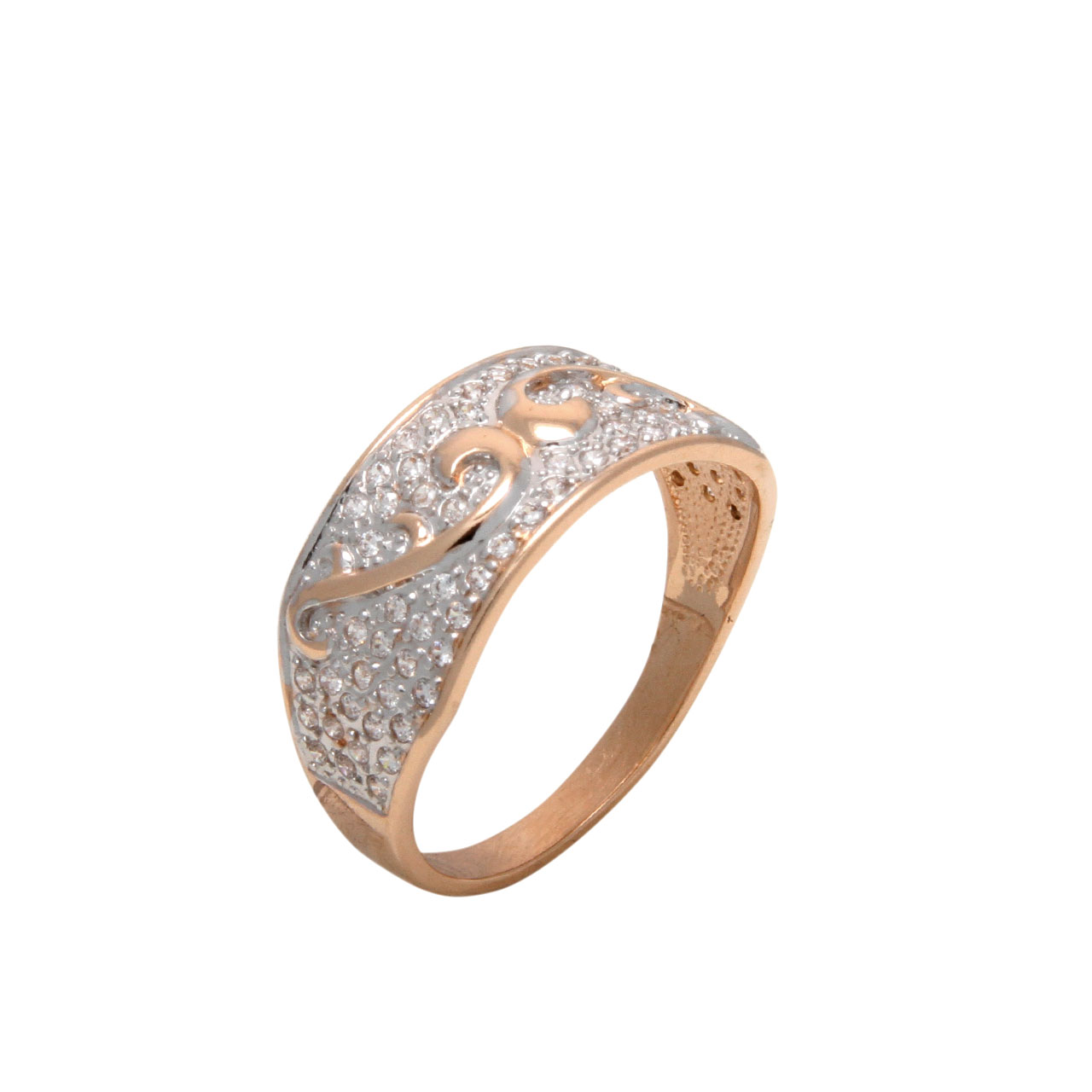 Pavé CZ Art Deco Ring