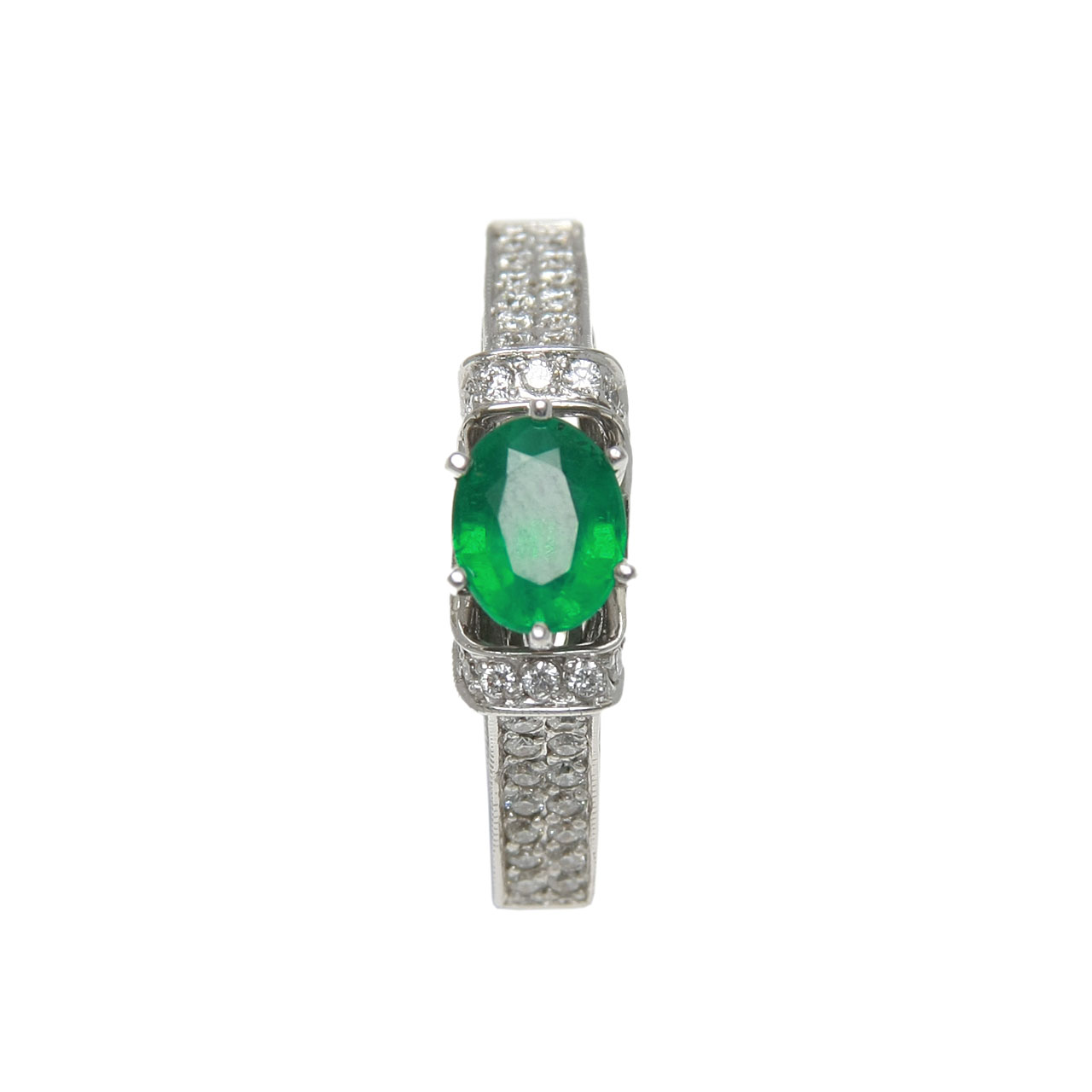 Russian emerald party ring on sale 2