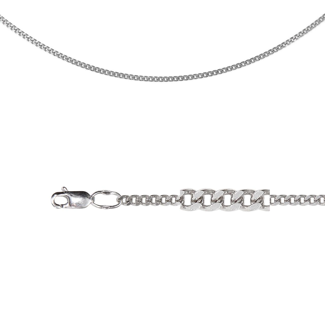 Single Curb Chain (0.8mm Silver Solid Wire)