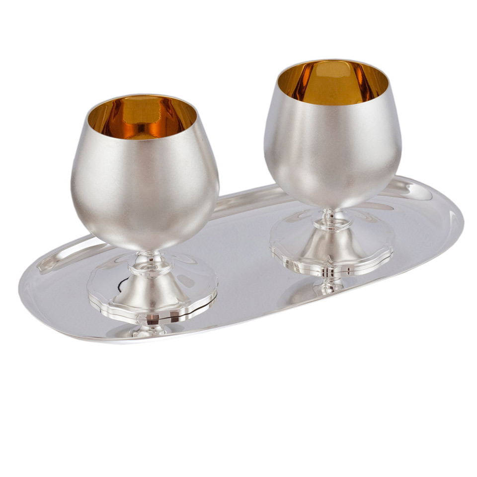 King Size Cognac Drinkware Set For Two