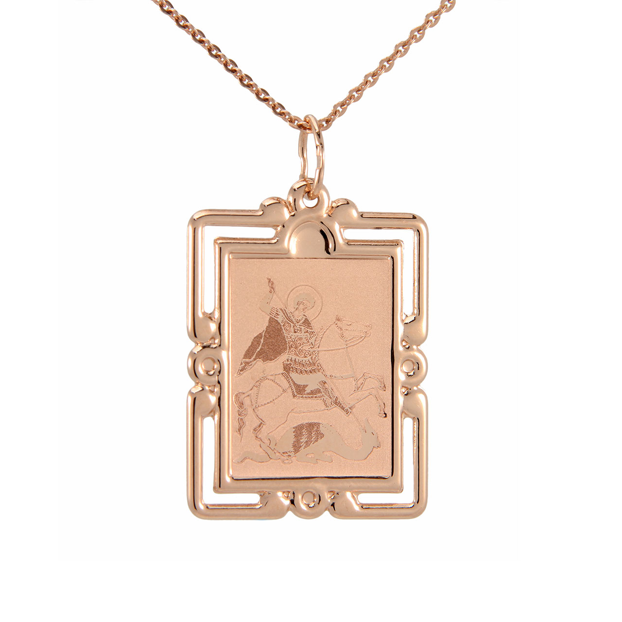 pendant george products french fleur mix kande channel medallion forest with gold image de in st lis equestrian necklace cross