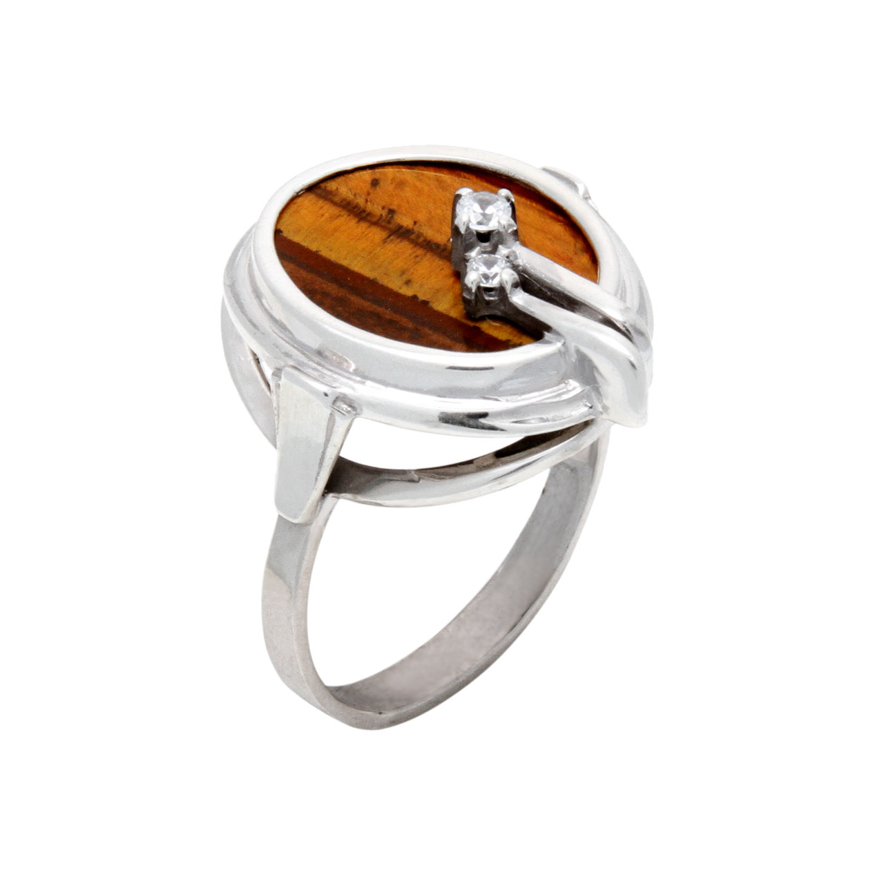 Tiger eye silver ring 1