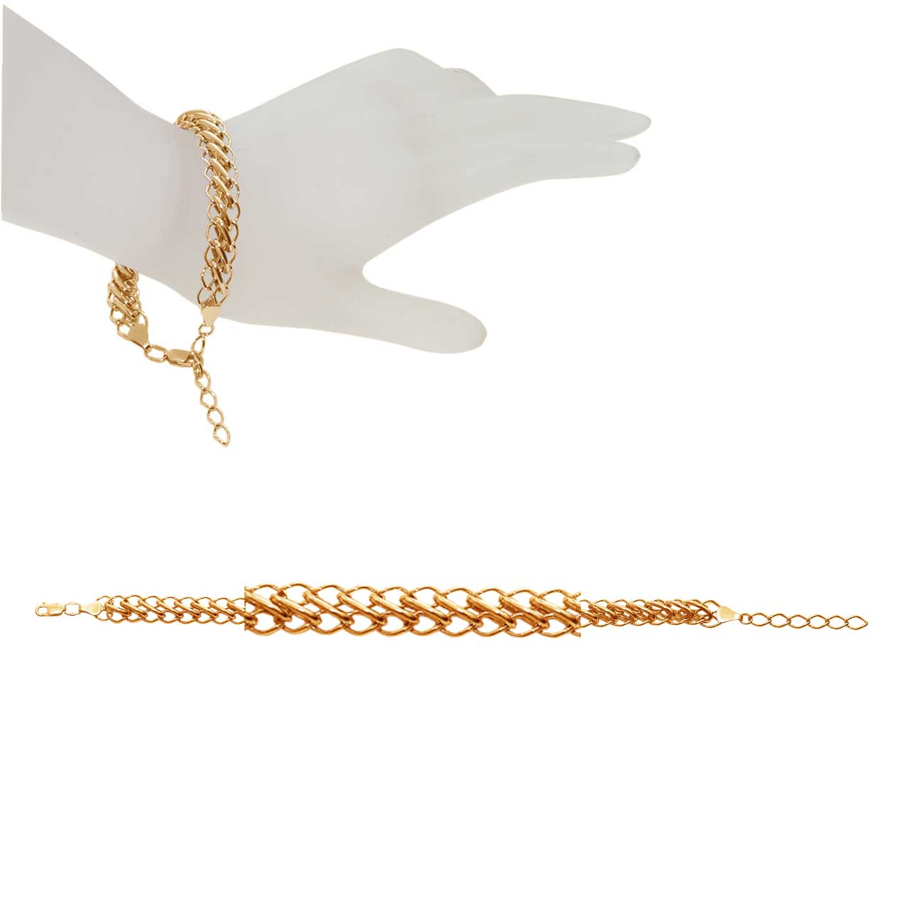 Adjustable Persian-link Rose Gold Bracelet