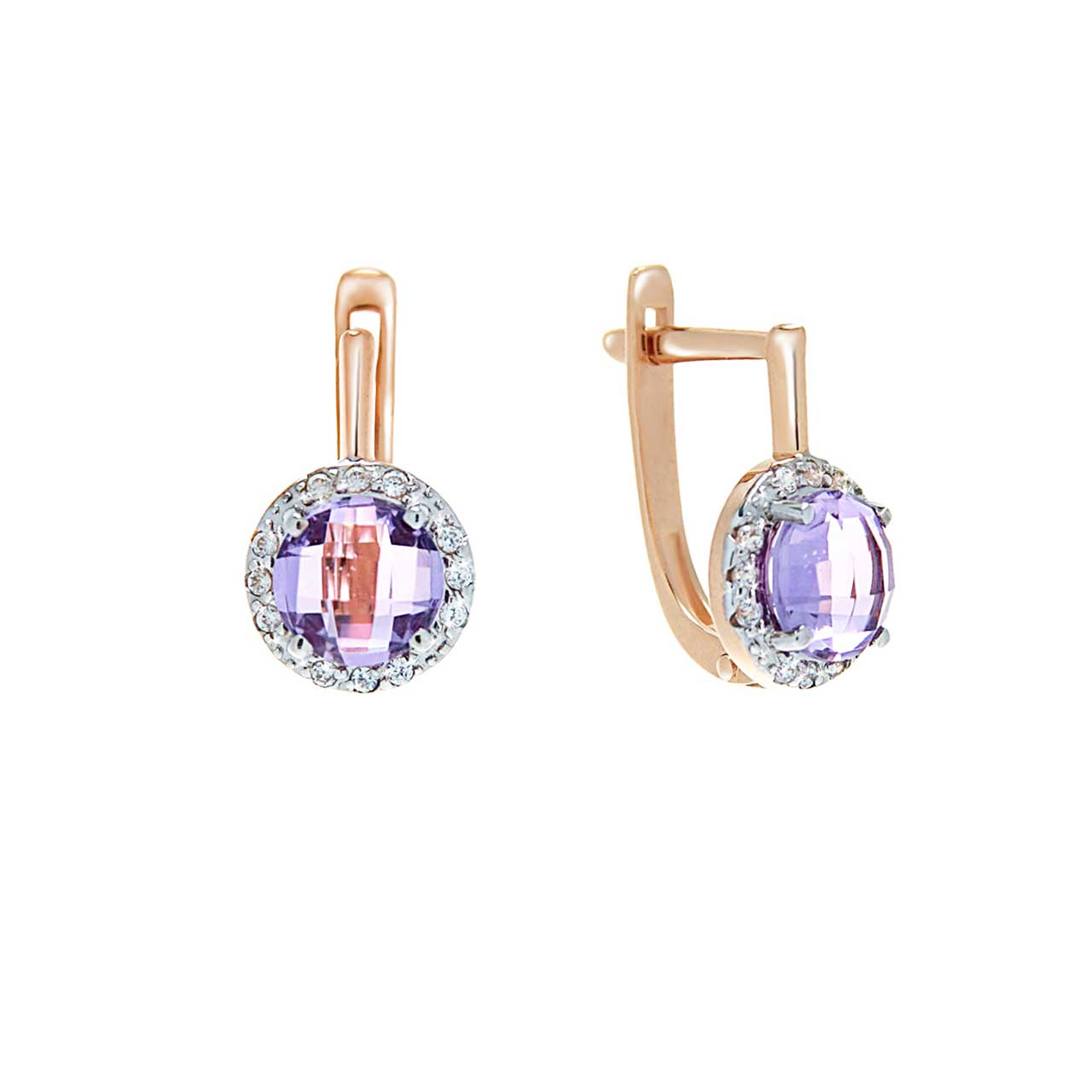 Fancy Cut Amethyst Earrings