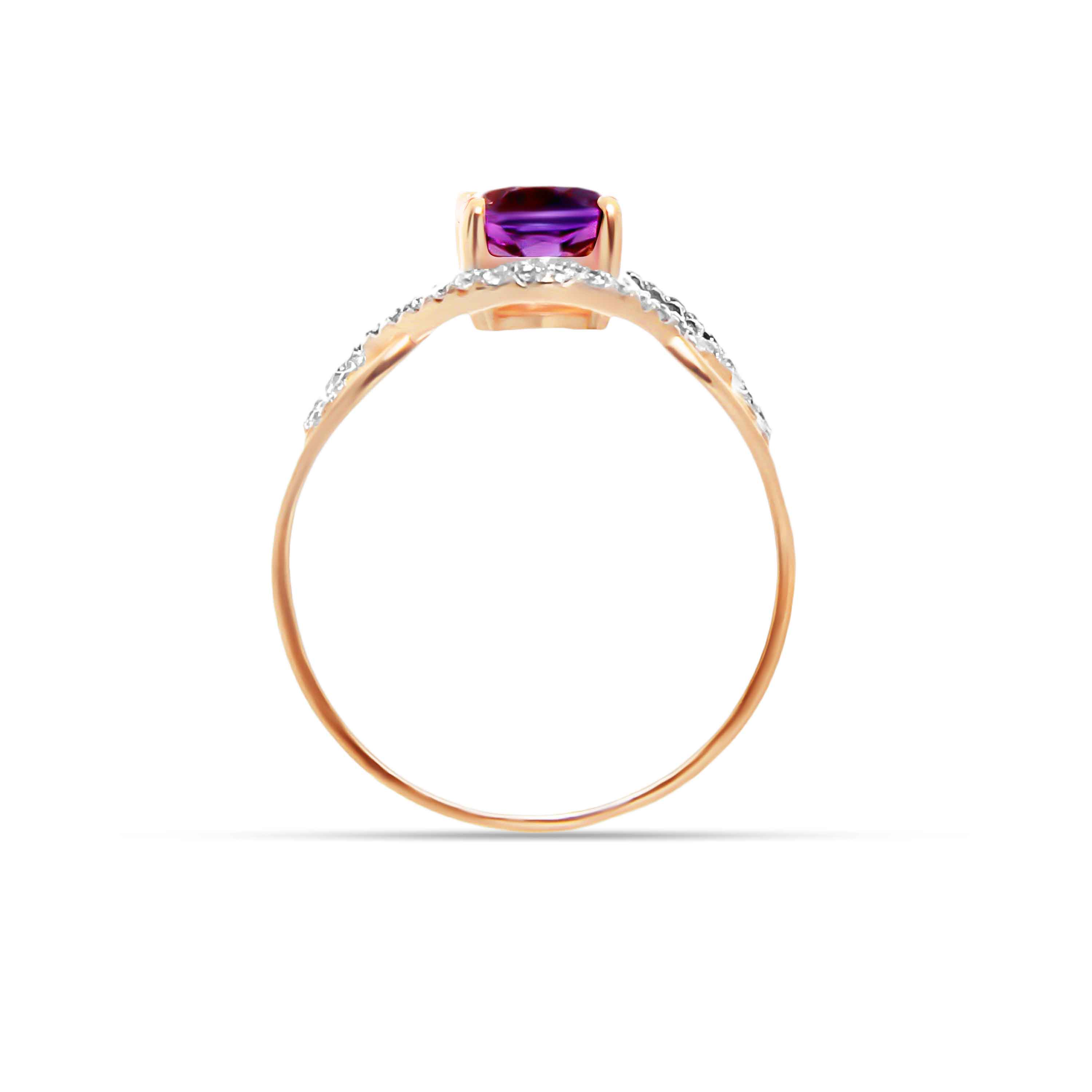 Amethyst Gold Ring. View 3