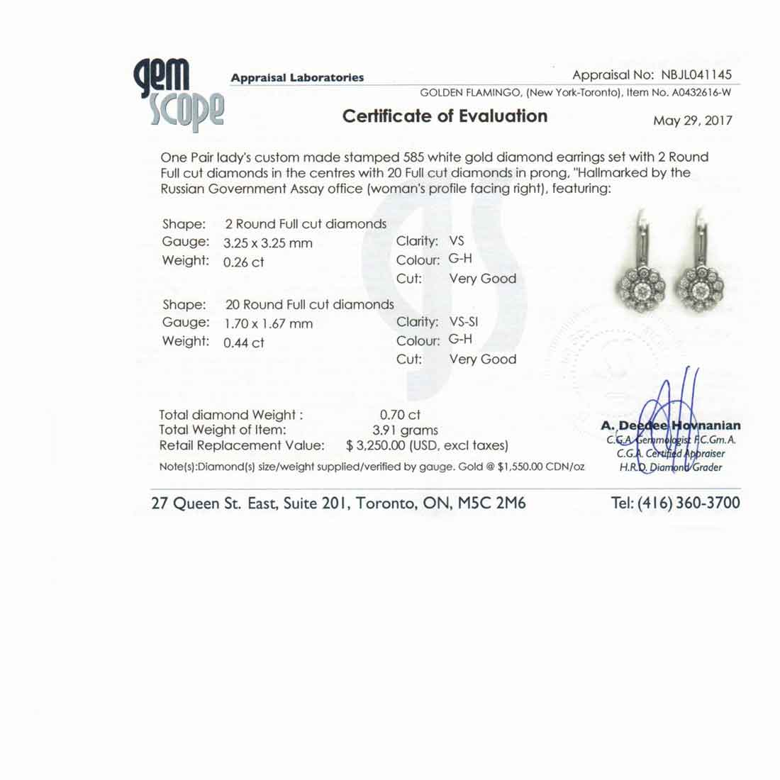 Malinka diamond earrings 3