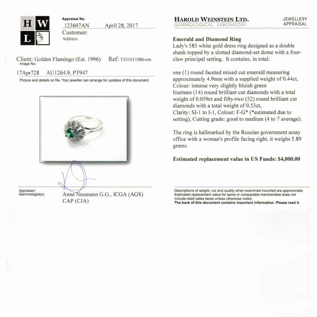 Certified emerald ring 4