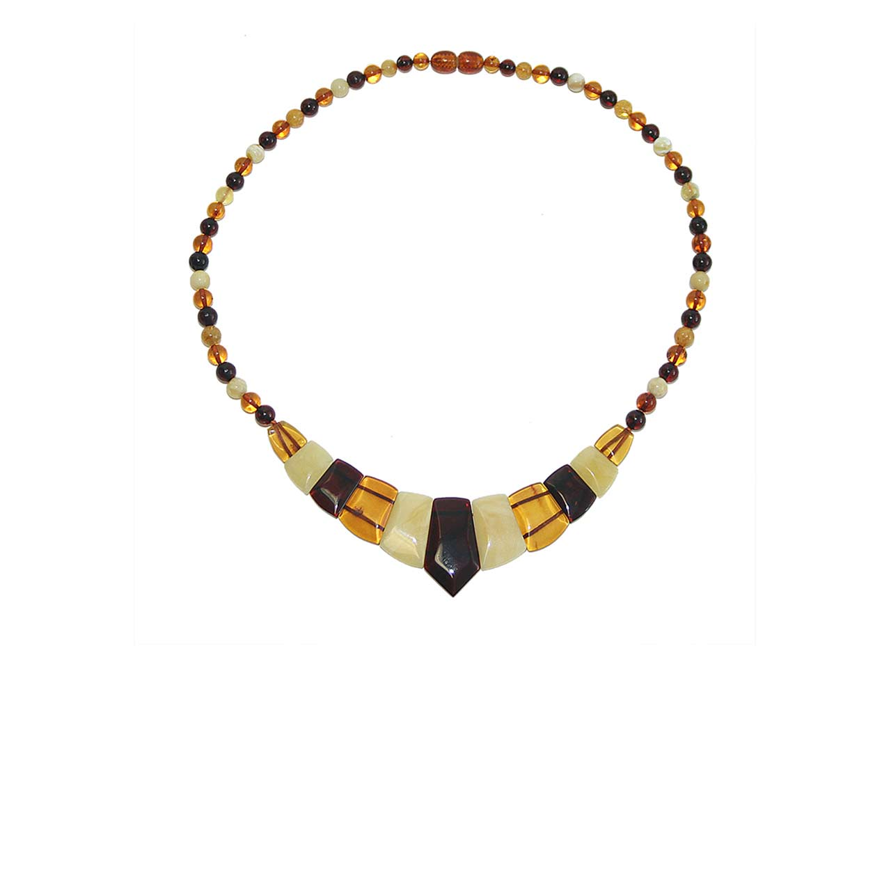 Multi-color Amber Collar Necklace