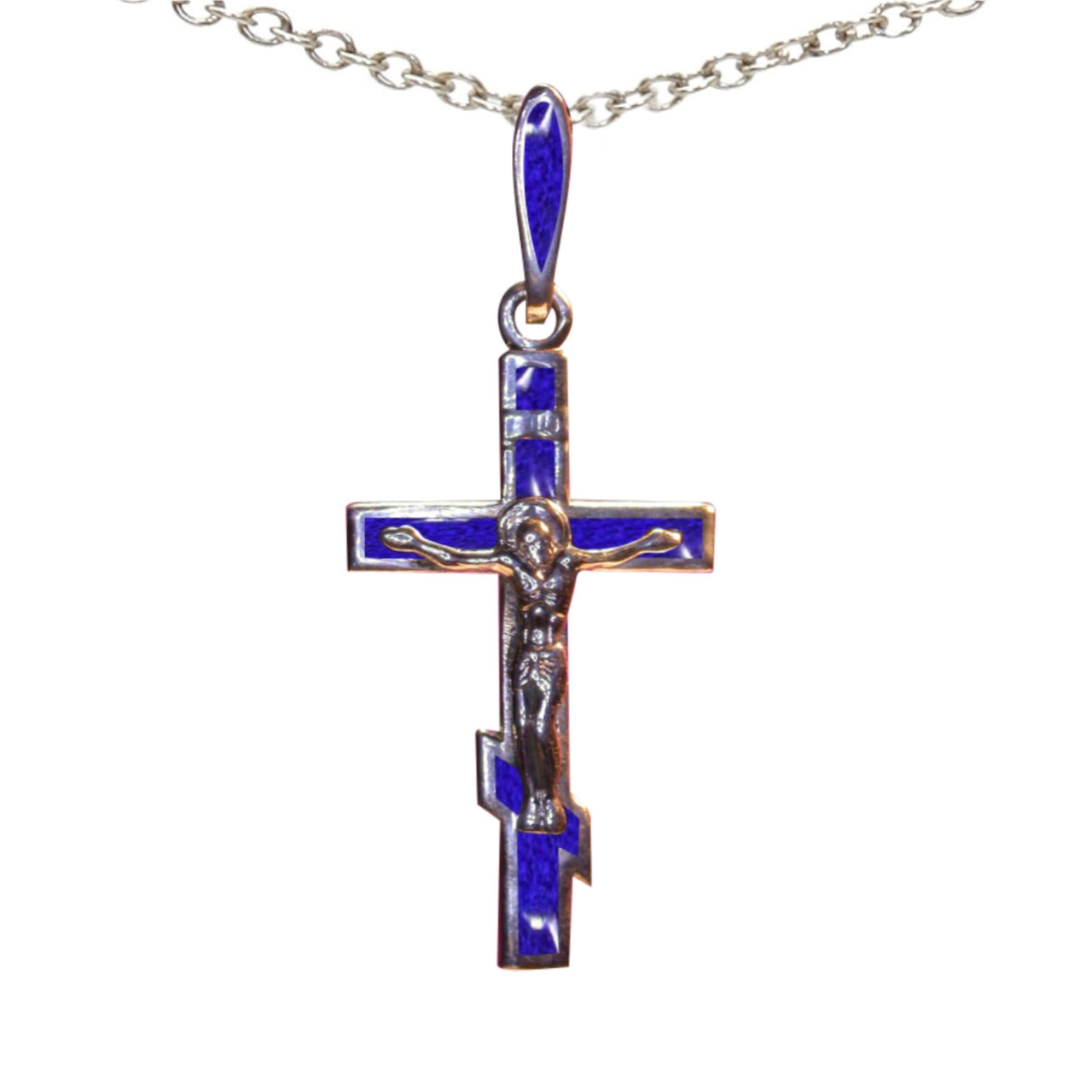 Silver Six-Pointed Orthodox Cross