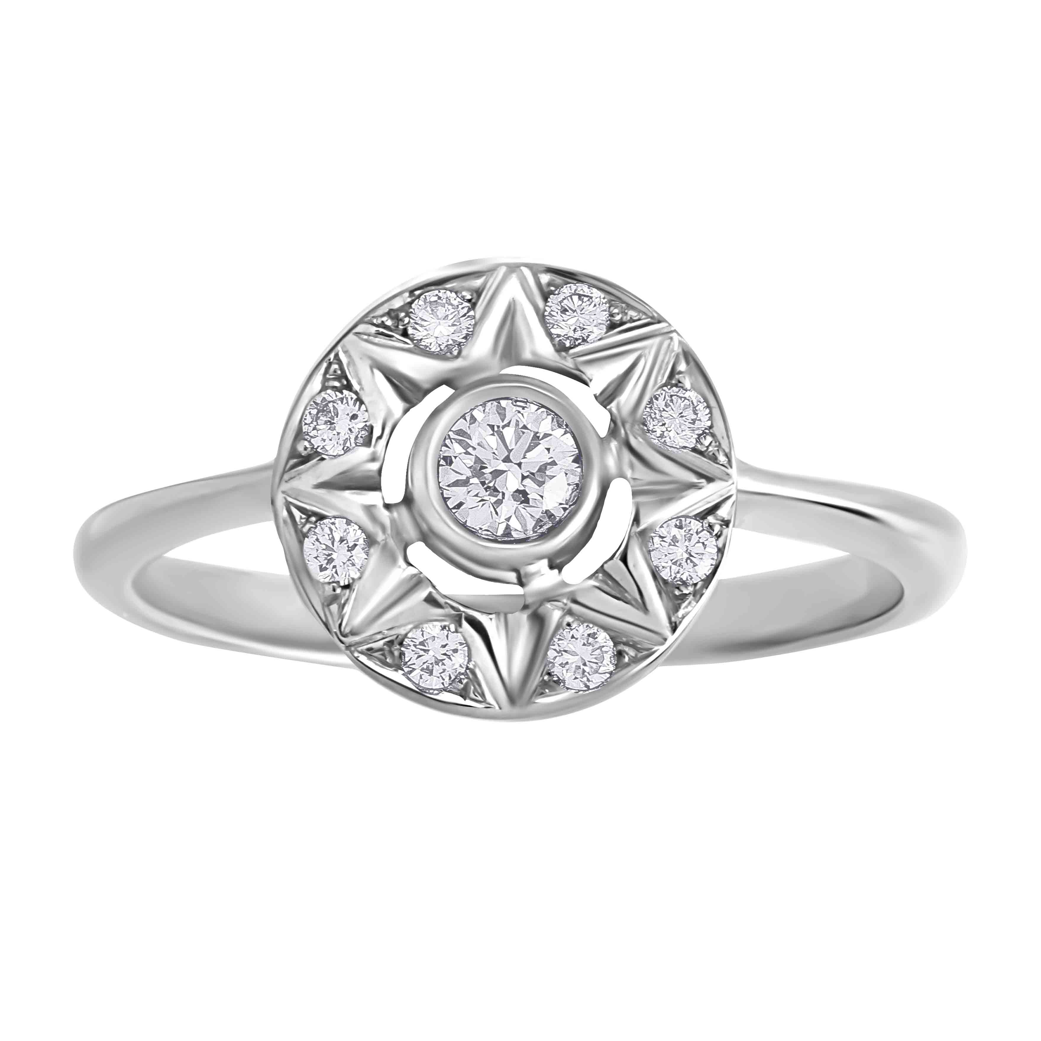 'Say YES to Bridal' Diamond Engagement Ring in 14kt White Gold. View 2