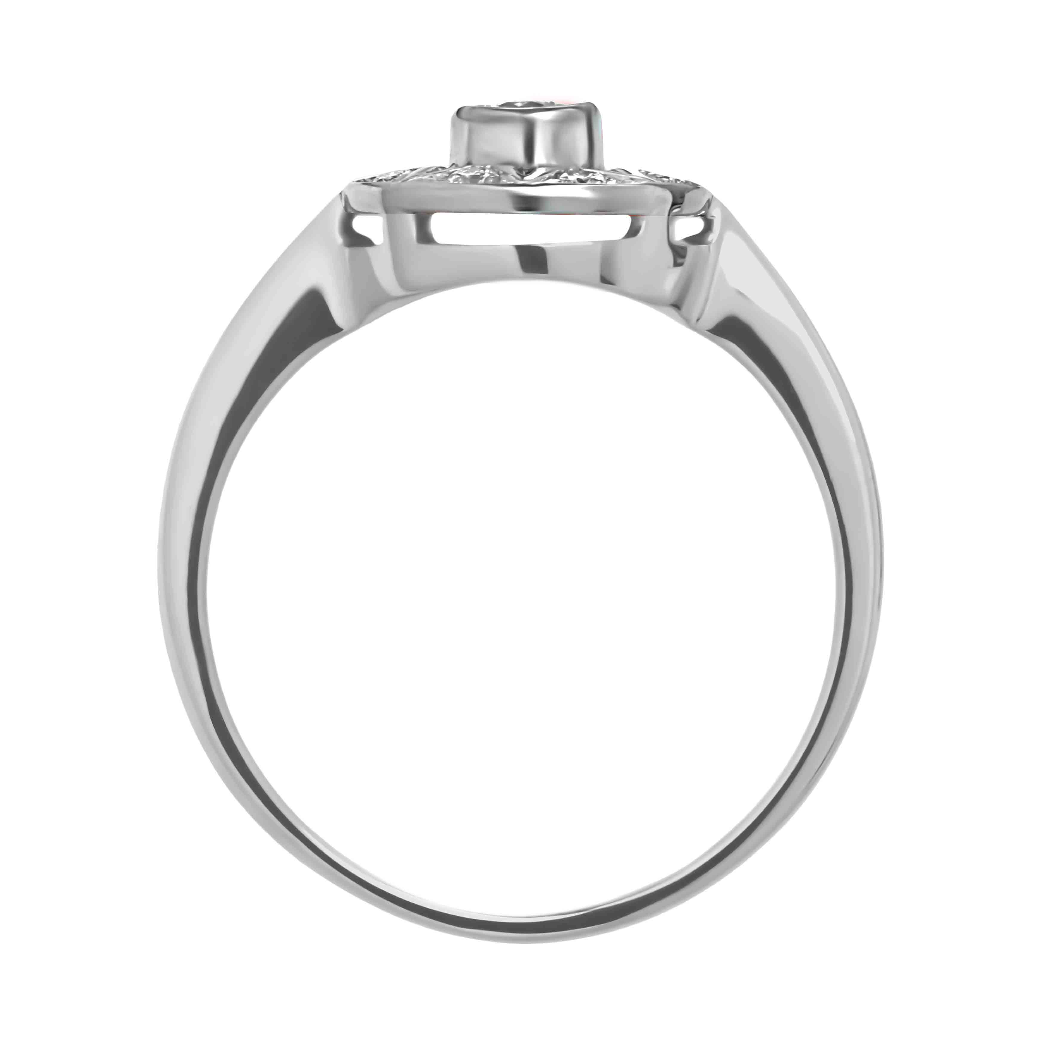 'Say YES to Bridal' Diamond Engagement Ring in 14kt White Gold. View 3