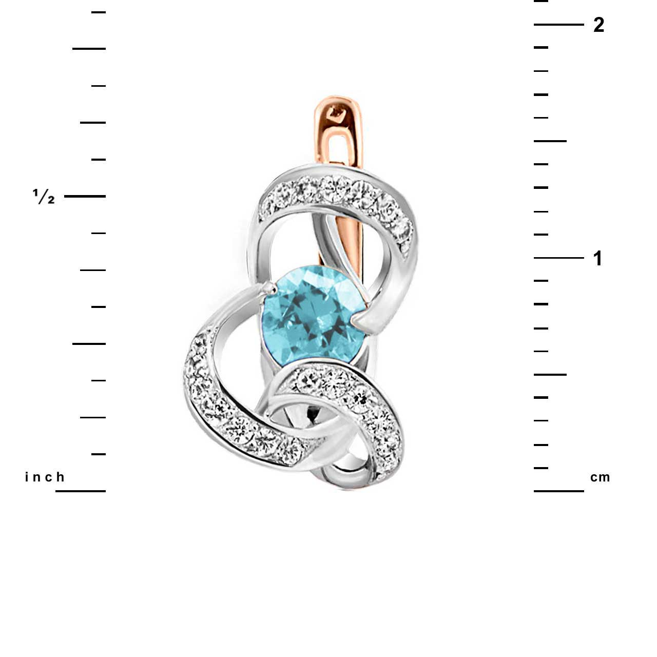 Blue topaz leverback earrings 2