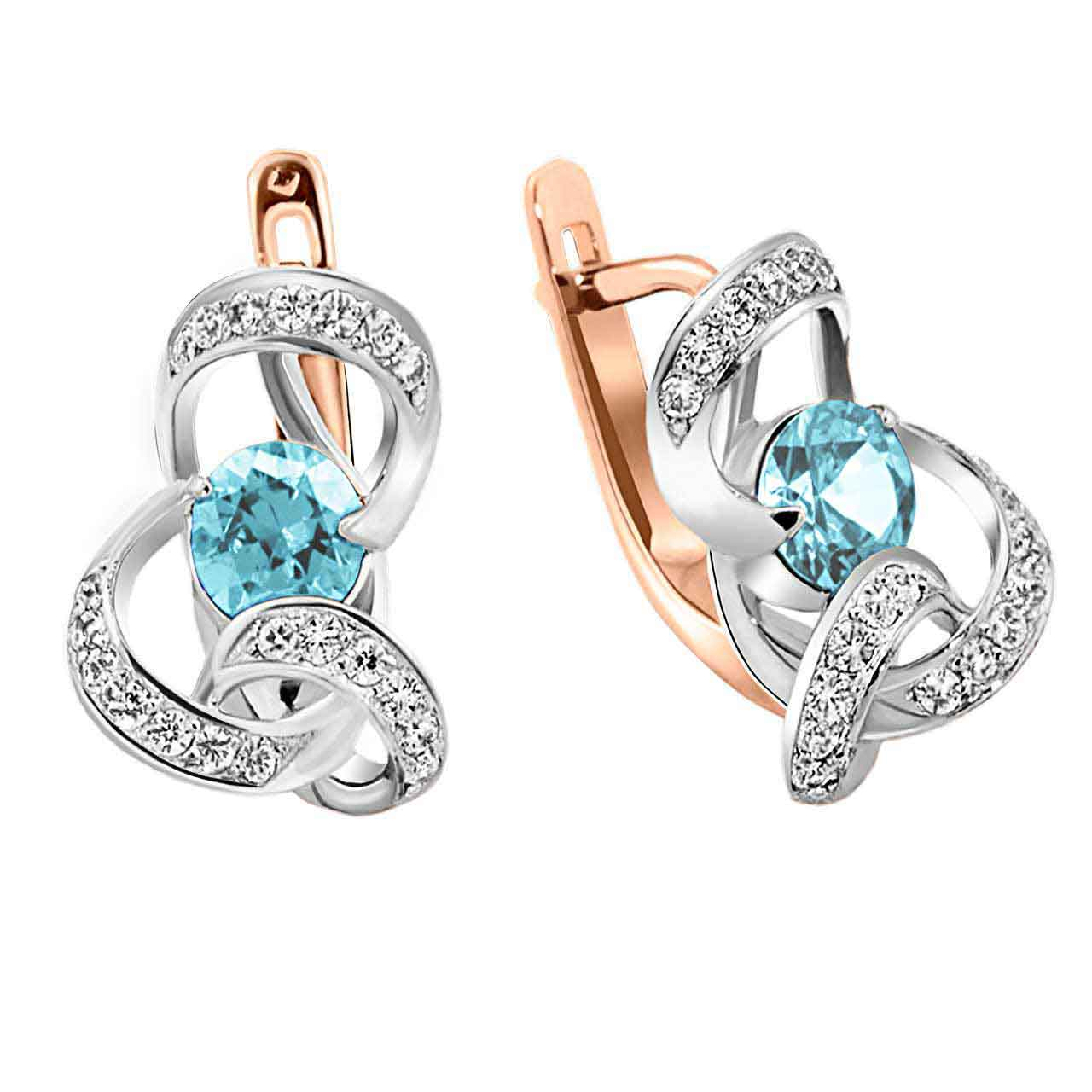 Blue topaz leverback earrings 1