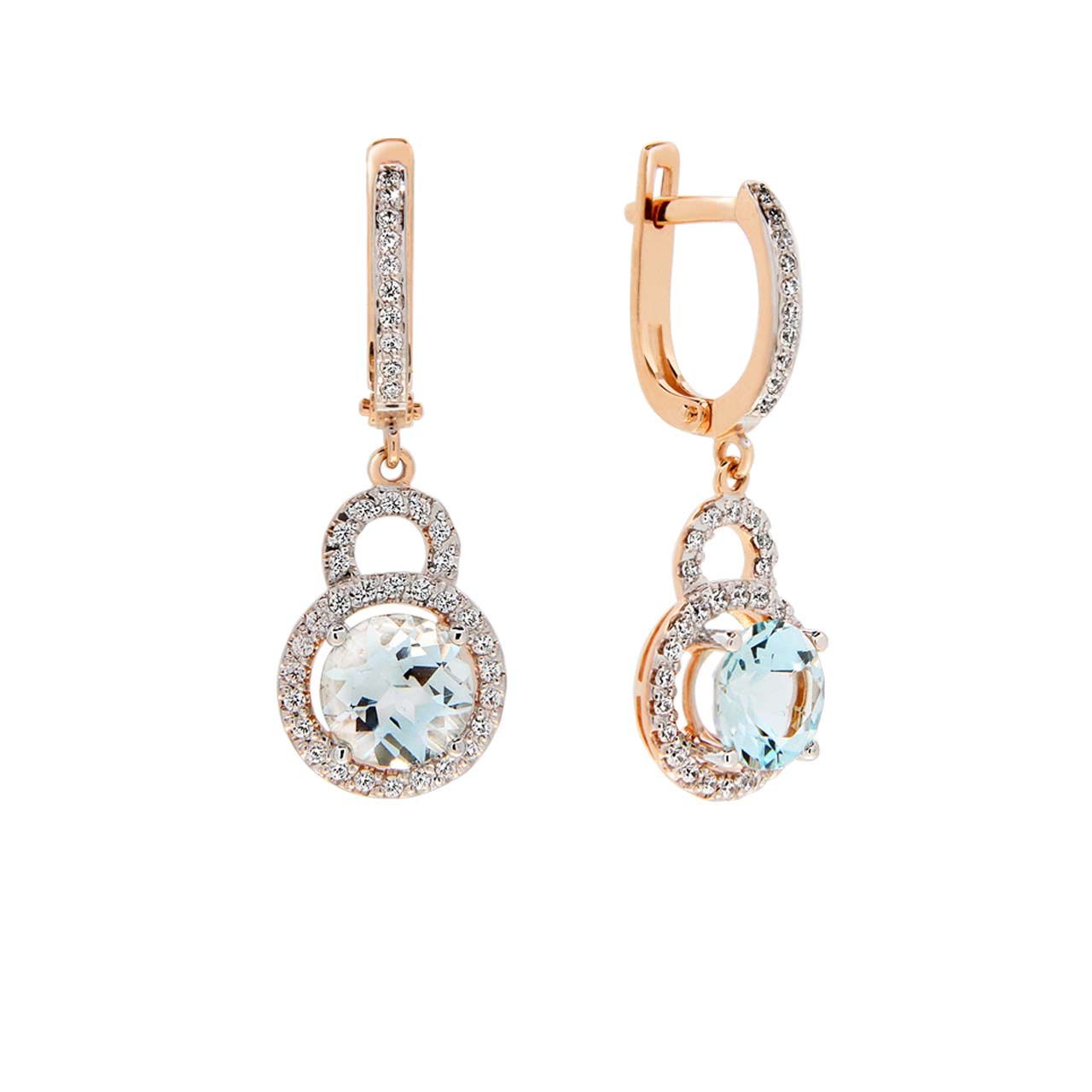 Pale blue topaz earrings 1