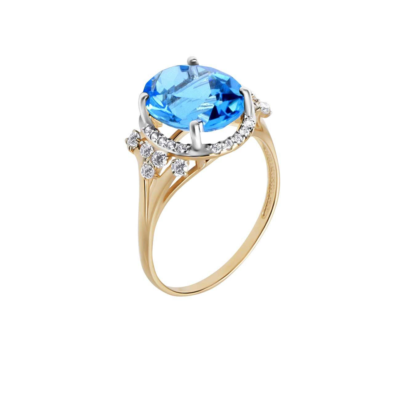 Blue topaz gold ring 1