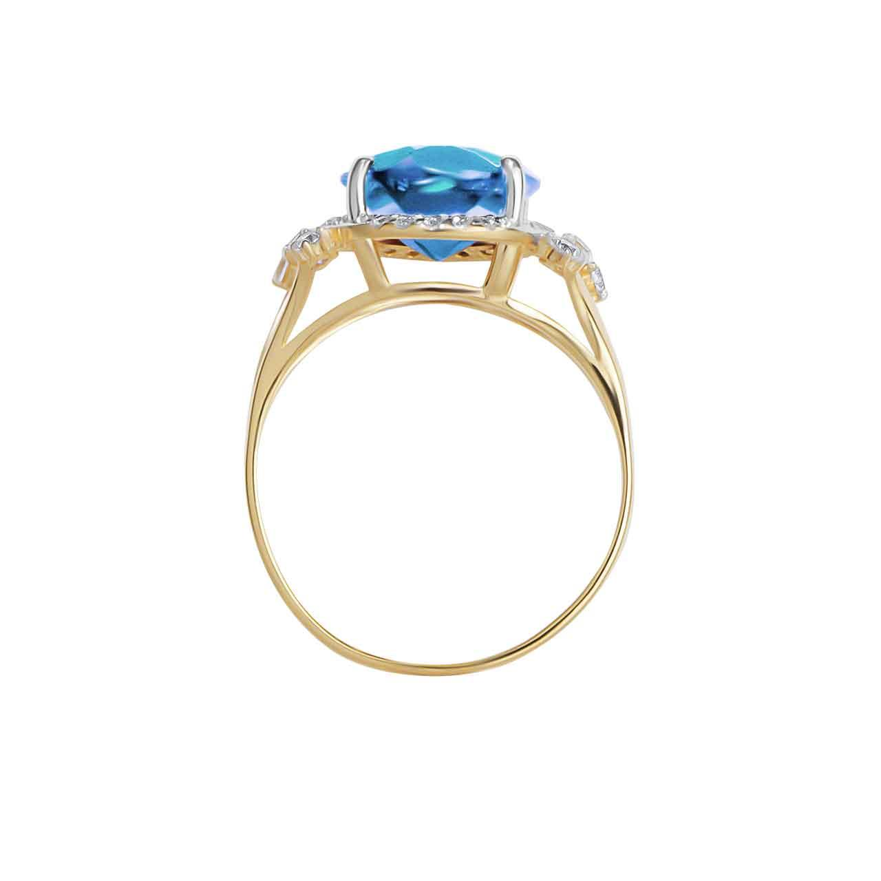 Blue topaz gold ring 3