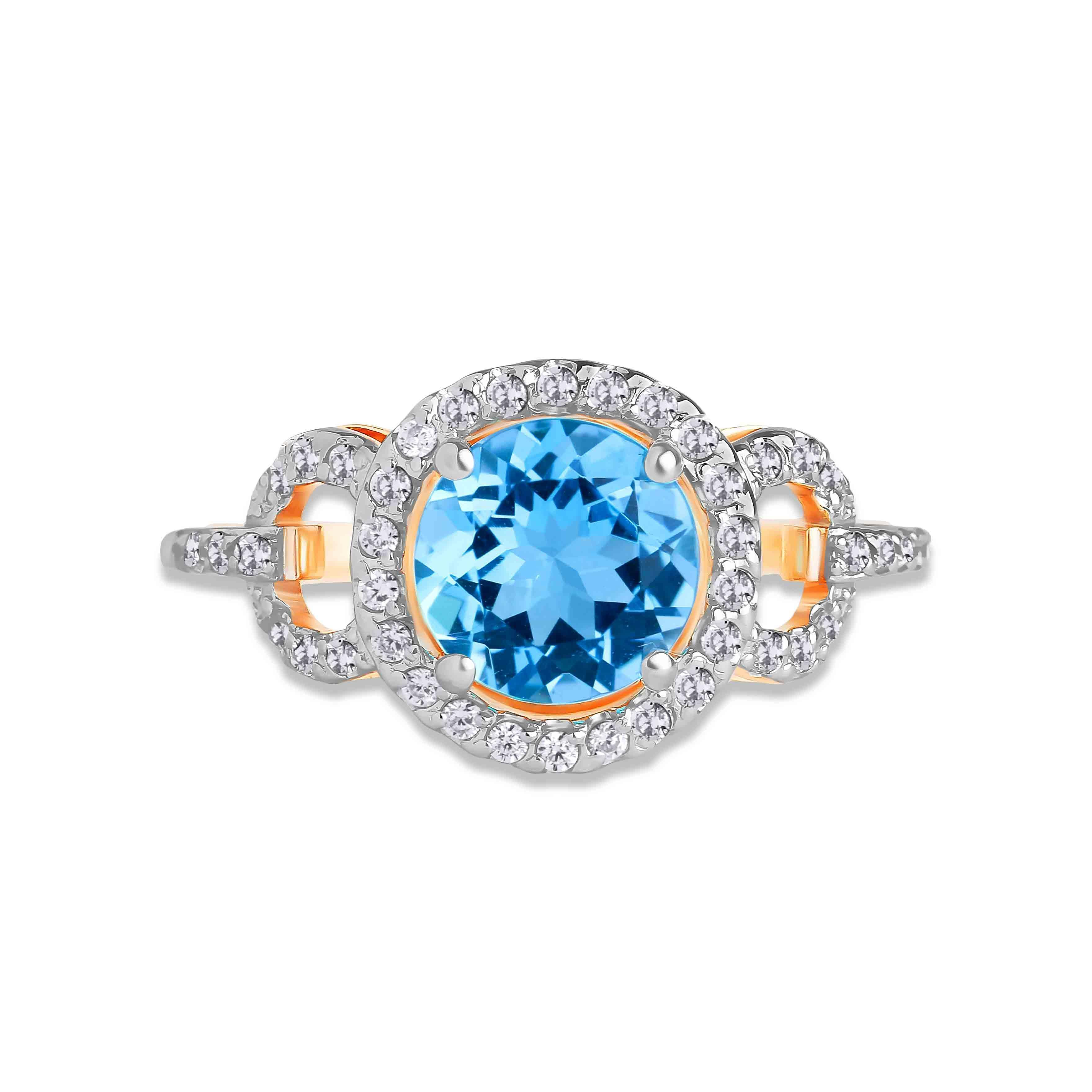 Blue Topaz Ring view 2