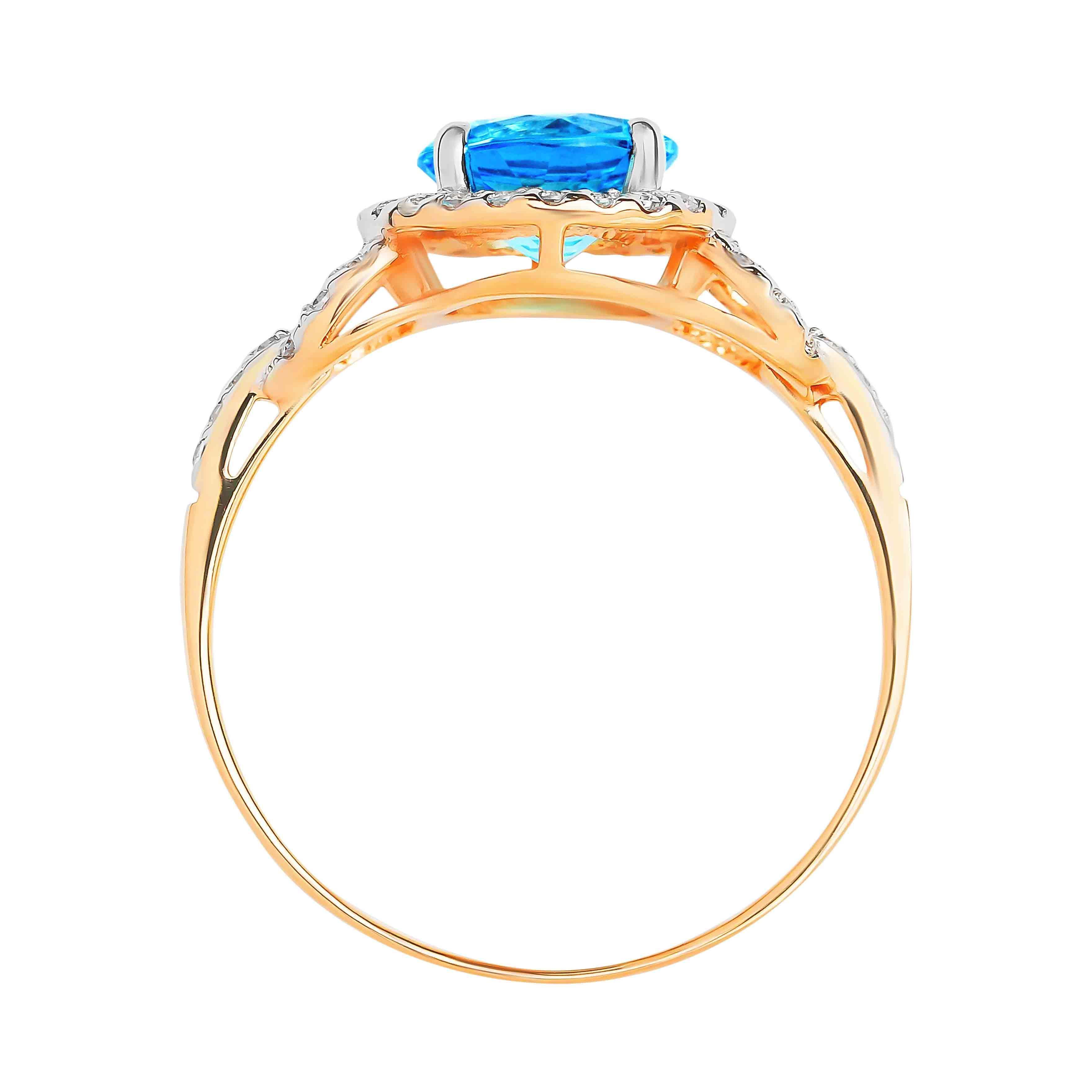 Blue Topaz Ring view 3