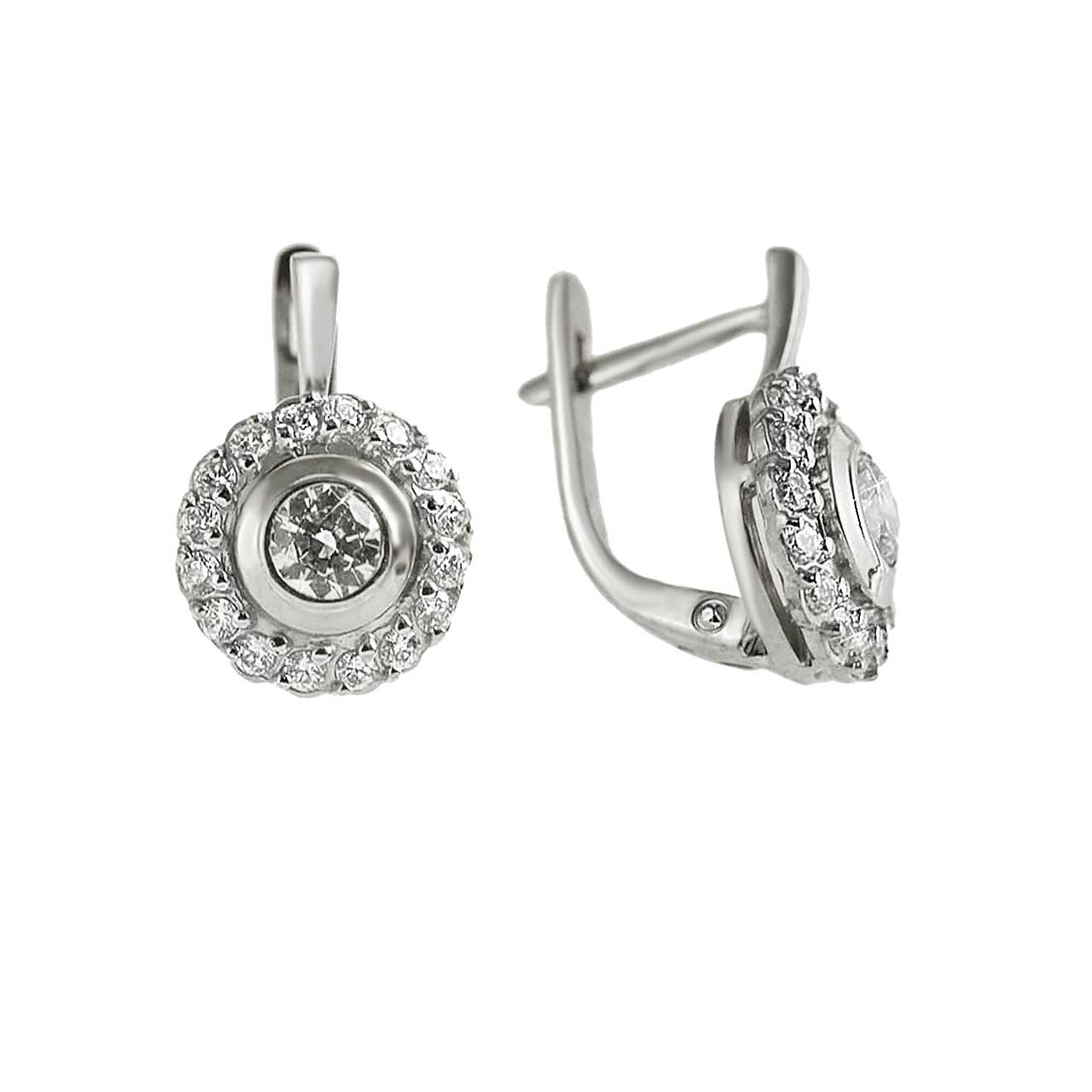 Certified Diamond Halo Earrings