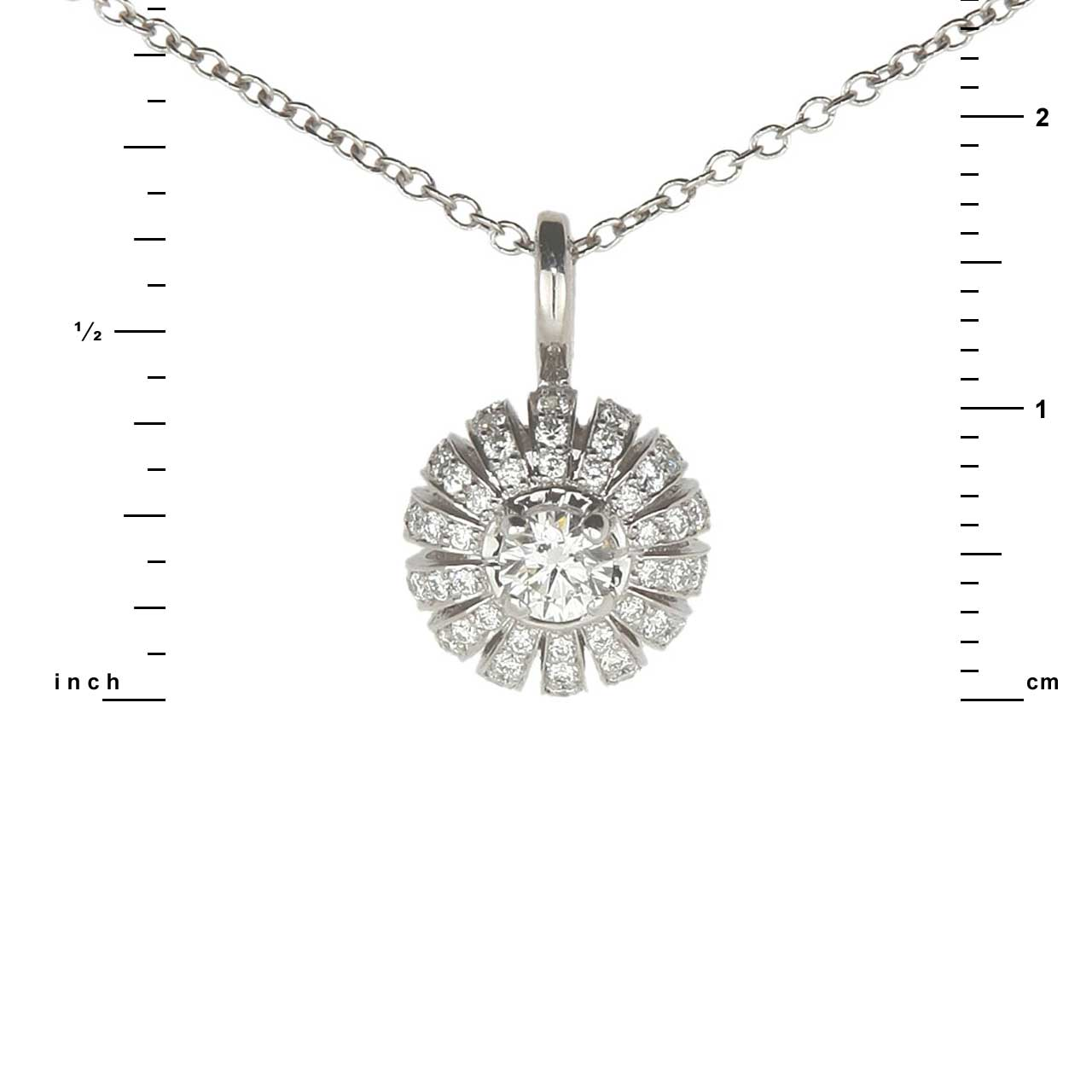 Certified diamond pendant 1