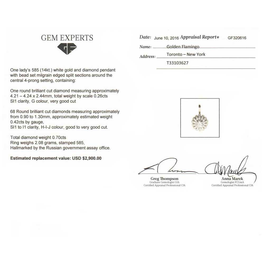 Certified diamond pendant 3