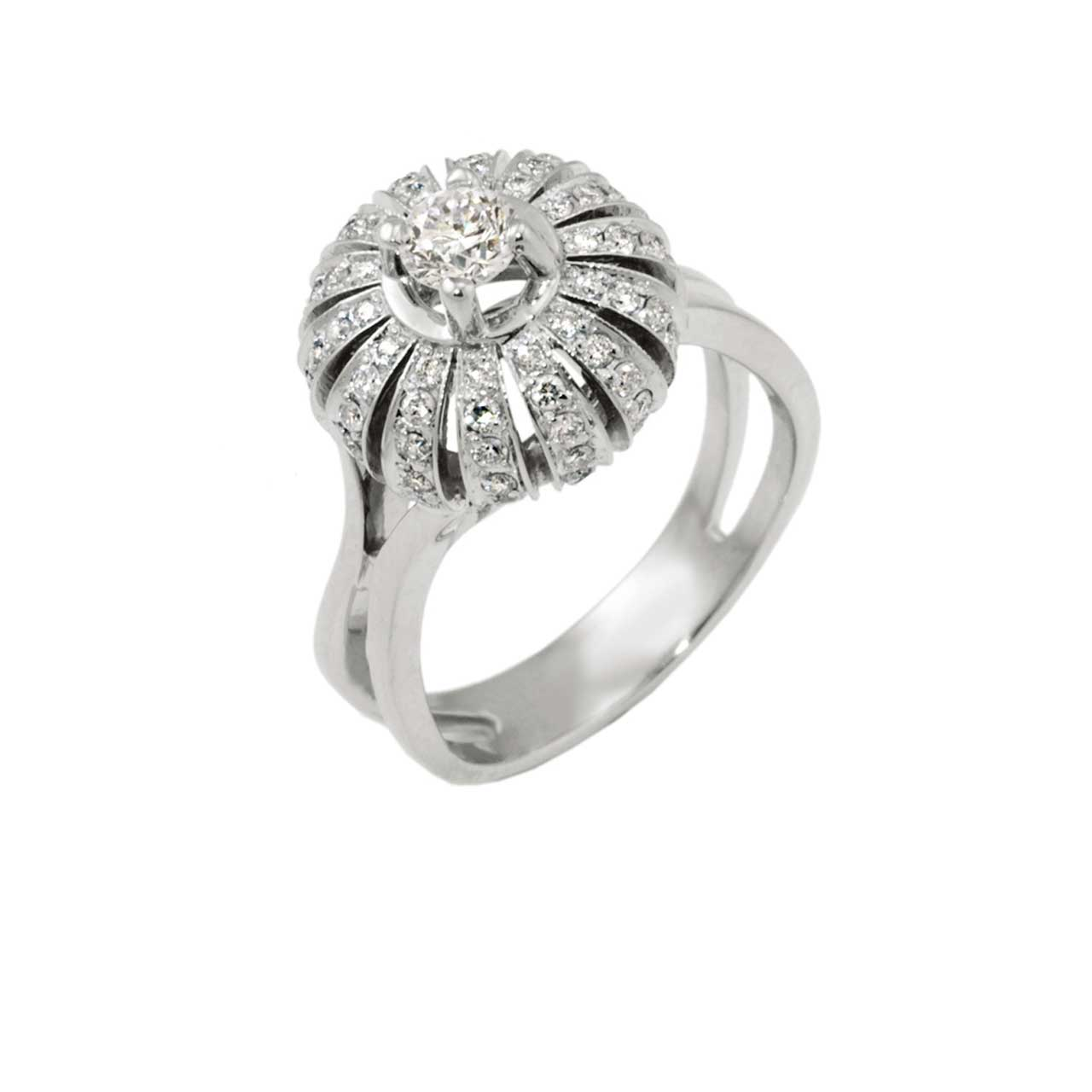 Eastern Motif Diamond Ring