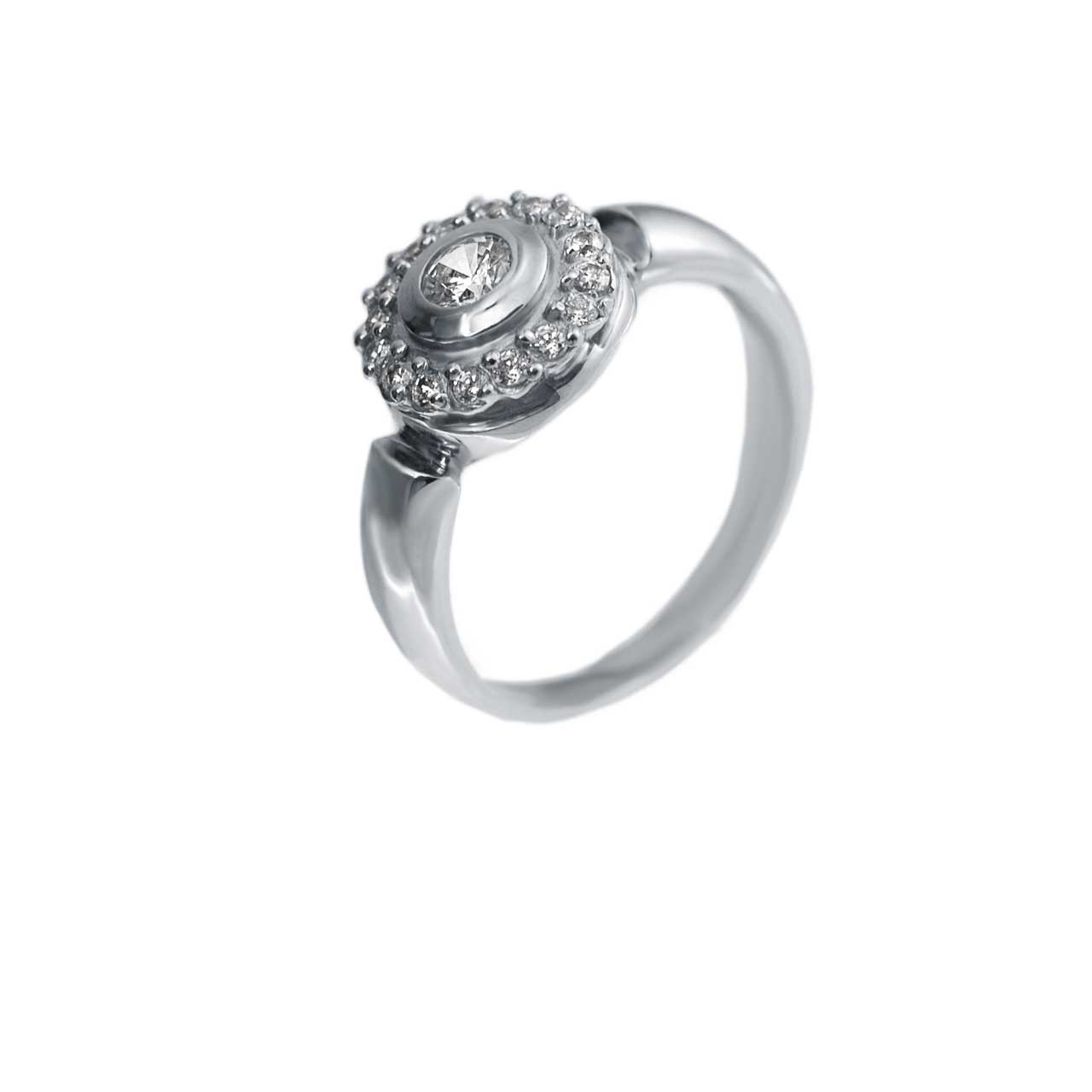 Palladium gold diamond ring from Russia 1