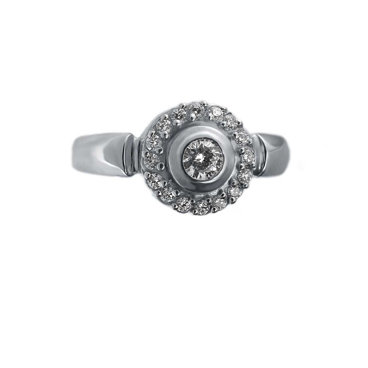 Palladium gold diamond ring from Russia 3