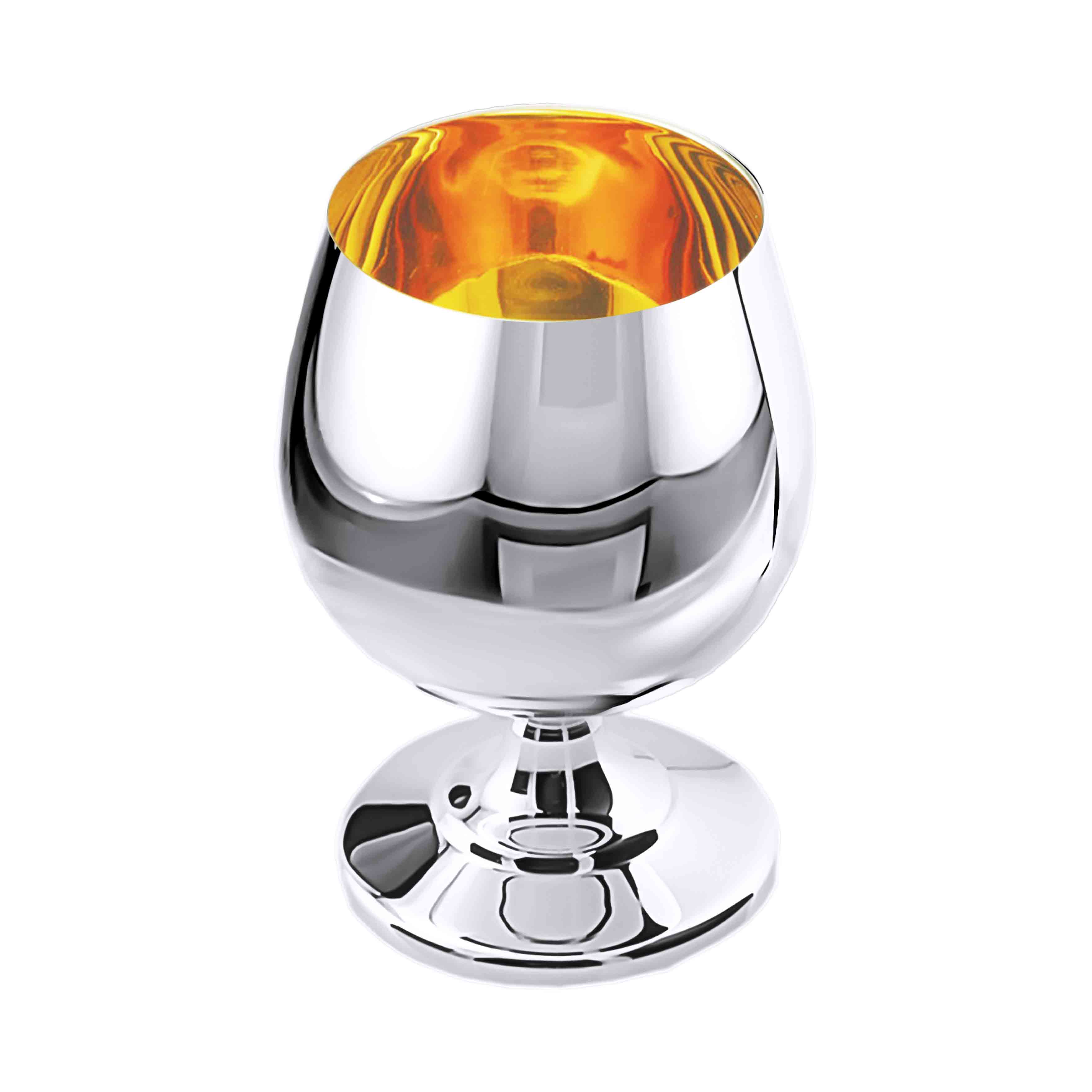 50ml Polished Silver Cognac Snifter