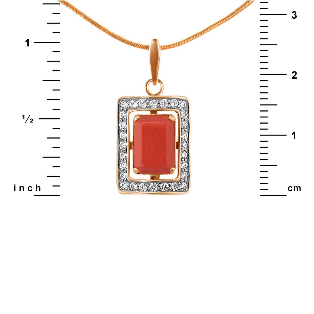 Coral gold pendant 1