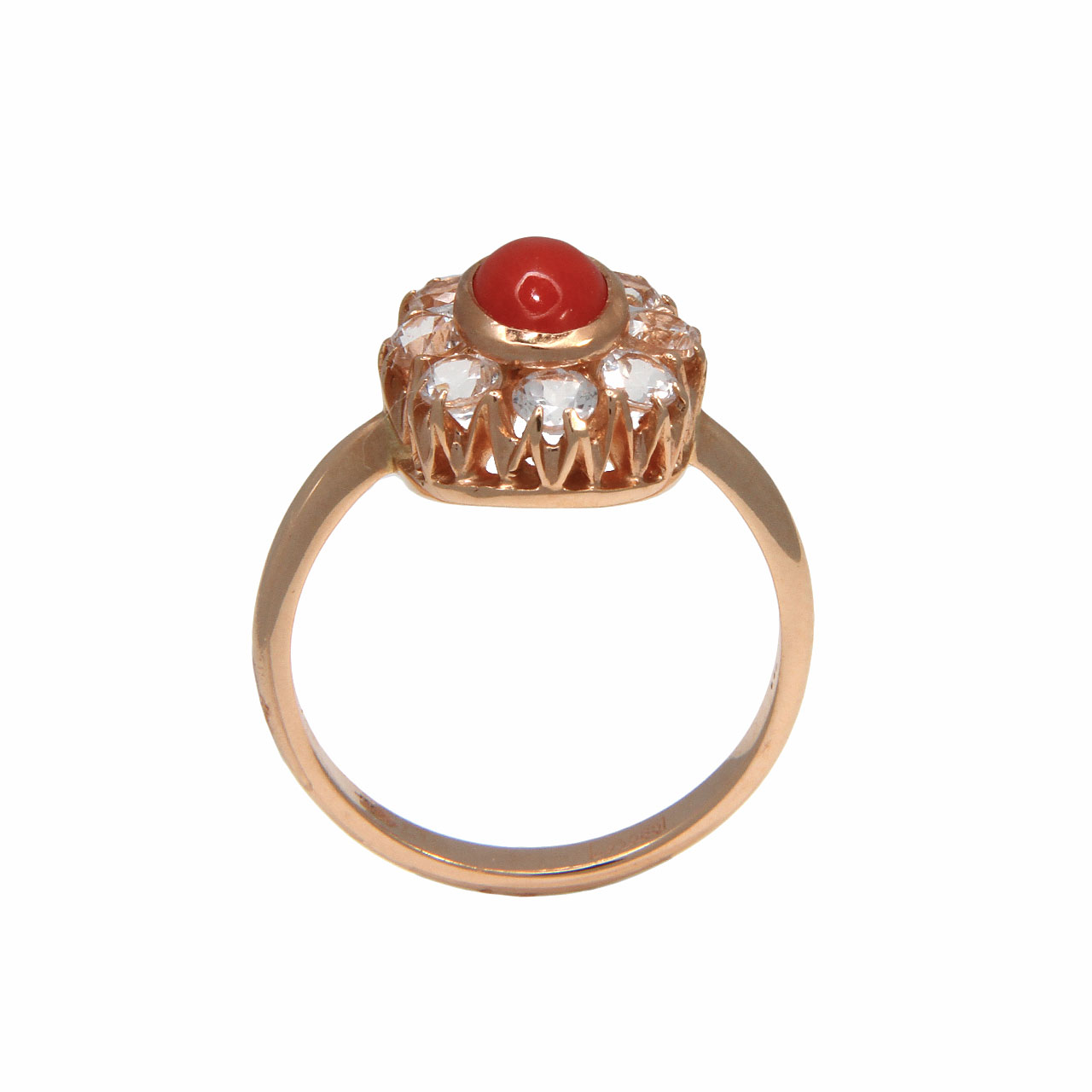 Coral halo ring 3