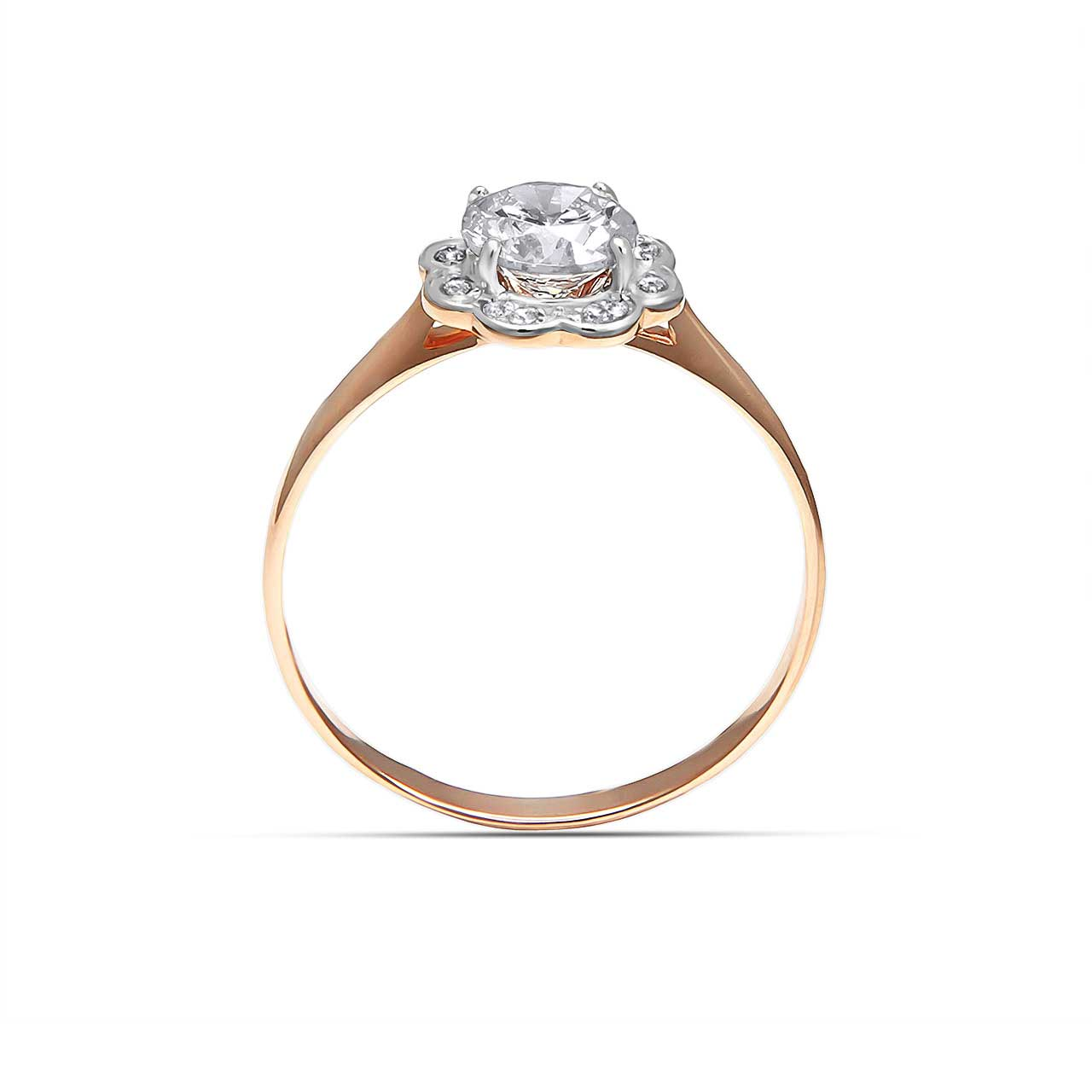 CZ floral engagement ring 3