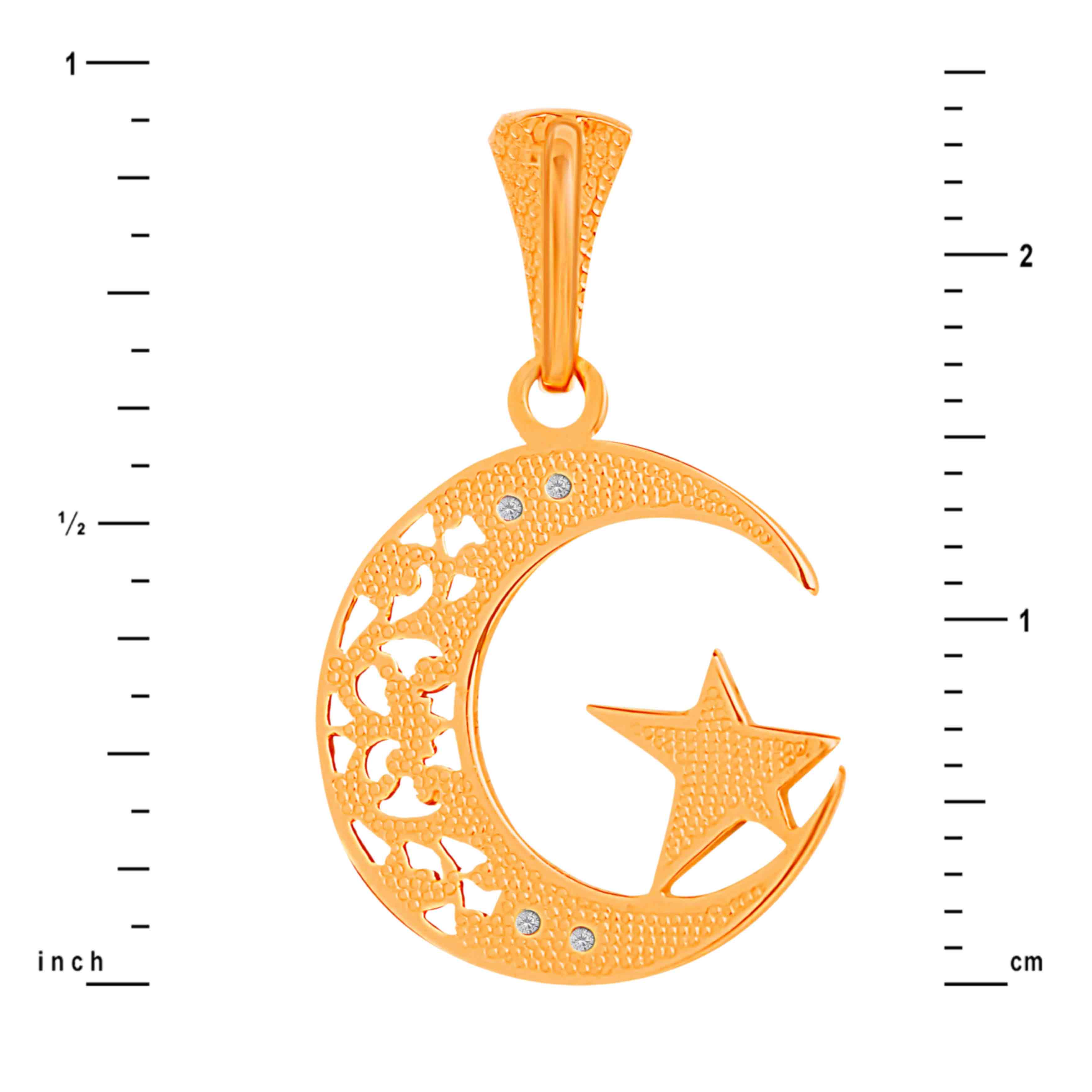 Crescent Moon Pendant. View 3