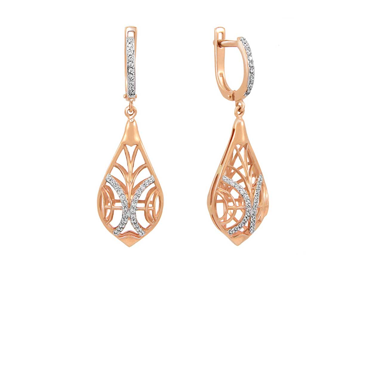 Swarovski CZ Drop Earrings