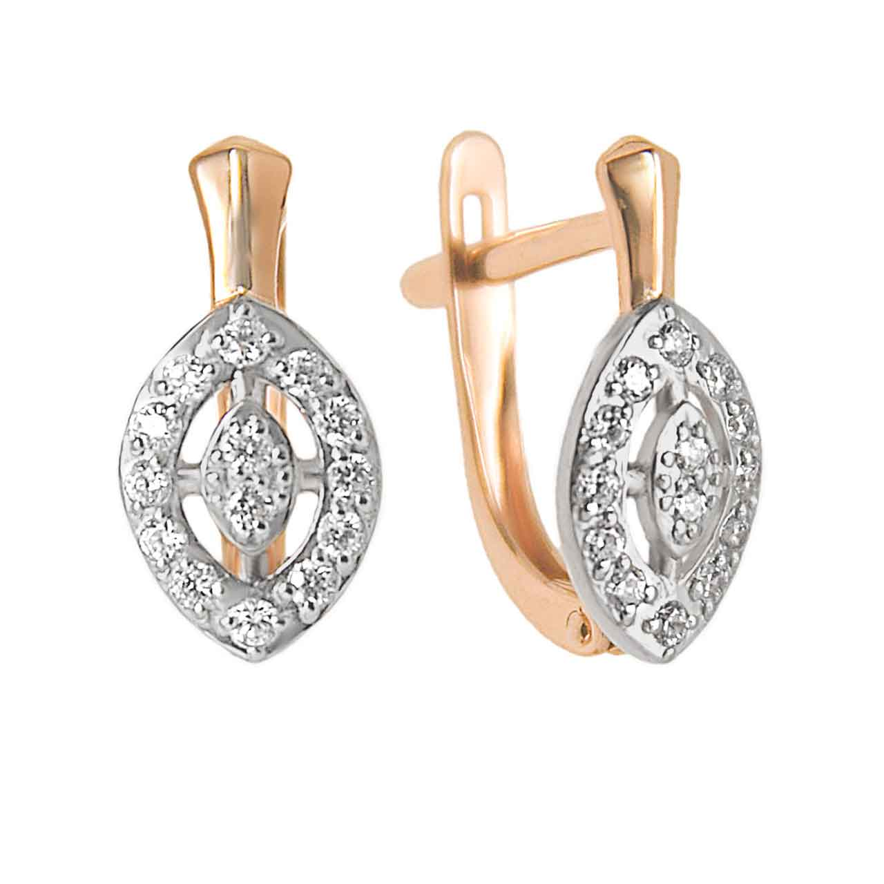 Rose gold marquise-shaped earrings 1