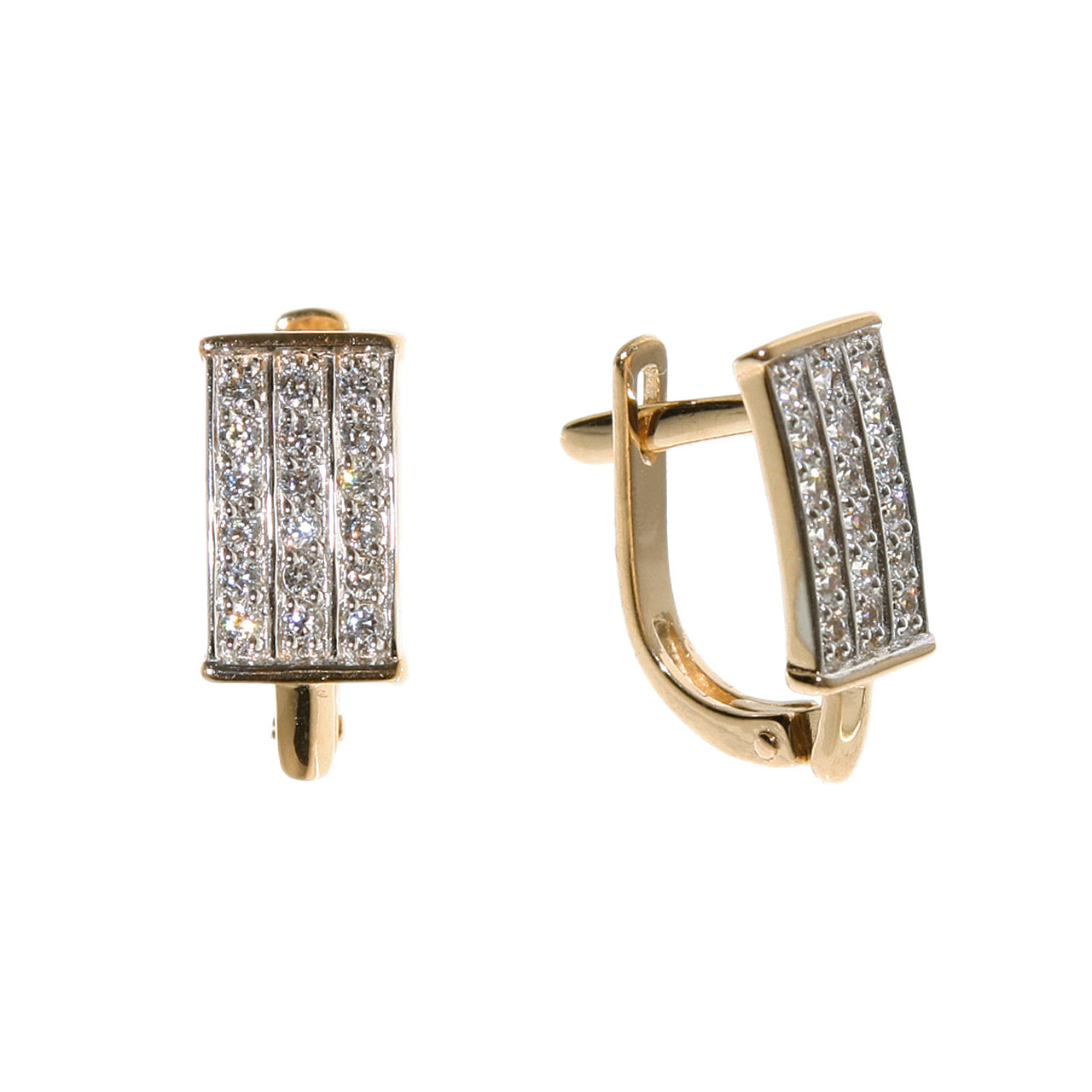 CZ rose gold earrings 1
