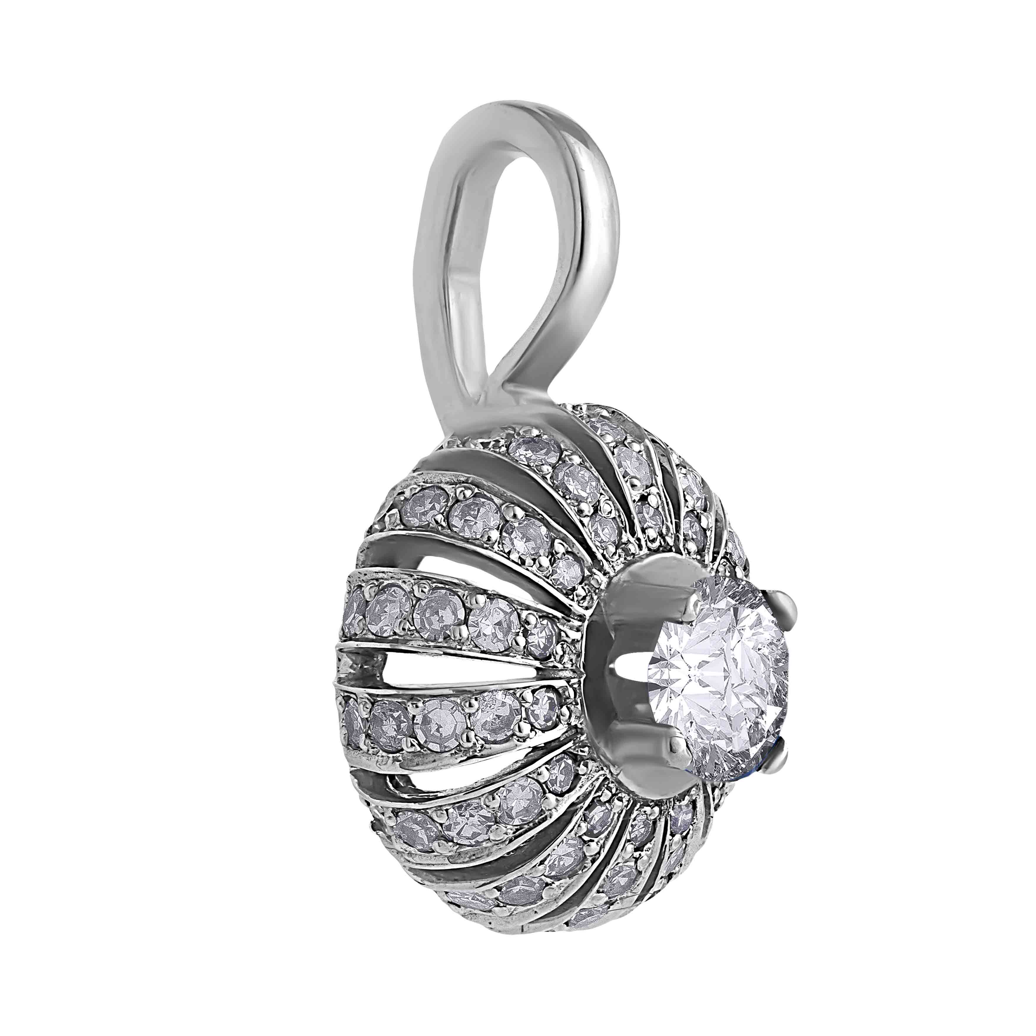 Eastern Motif Diamond Pendant. View 2