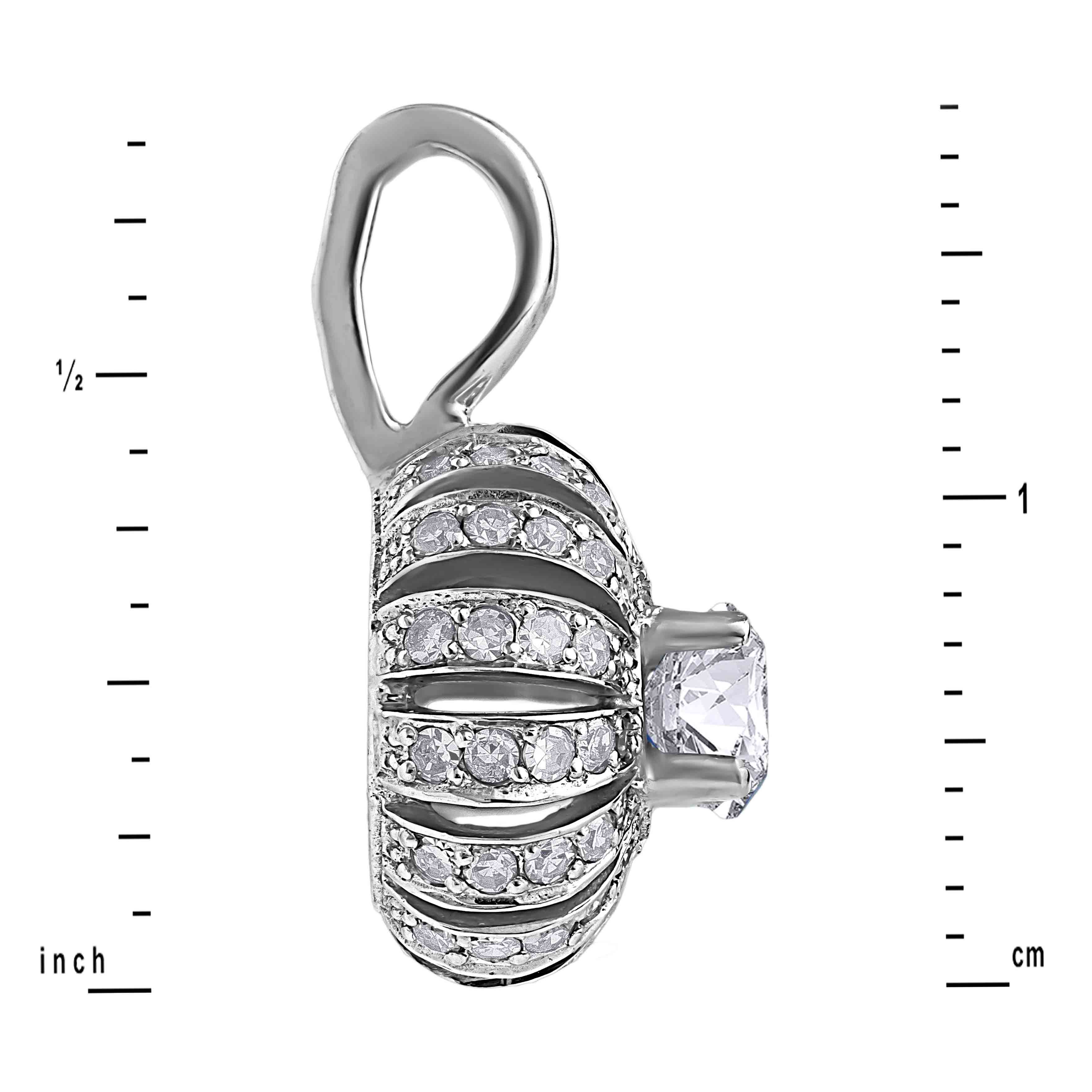 Eastern Motif Diamond Pendant. View 3