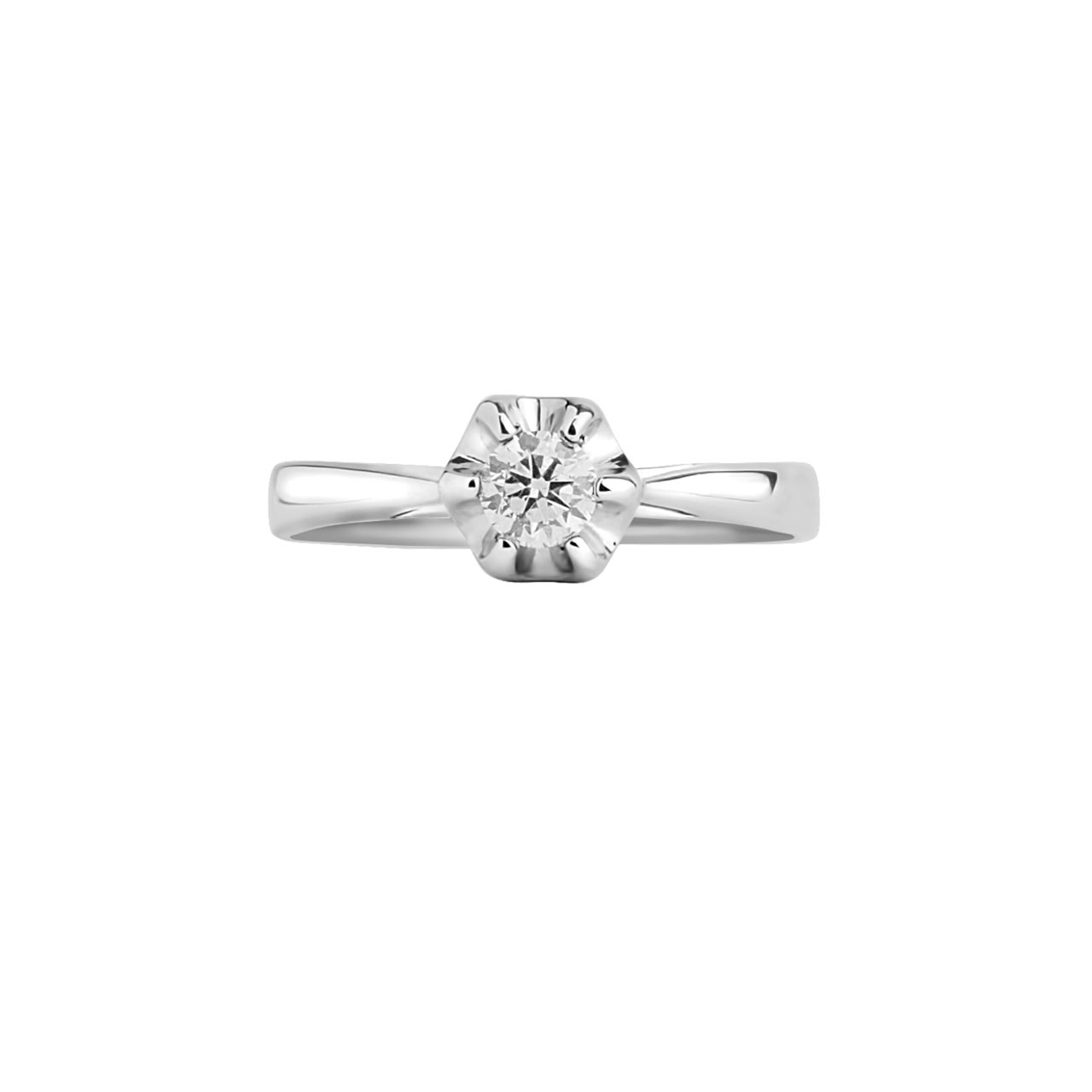 Diamond lily engagement ring 3