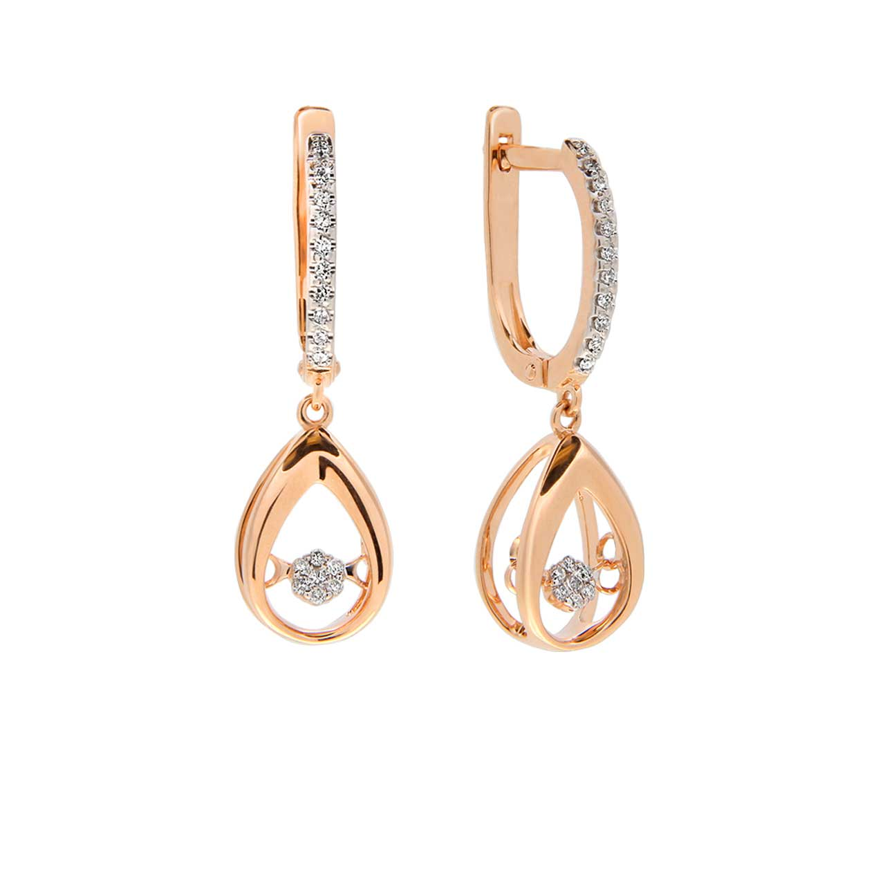 """Dancing Diamonds"" Drop Earrings"