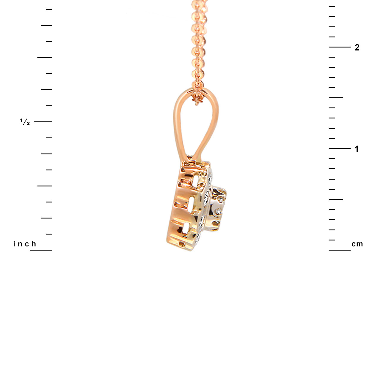 Diamond two-tone gold pendant 3