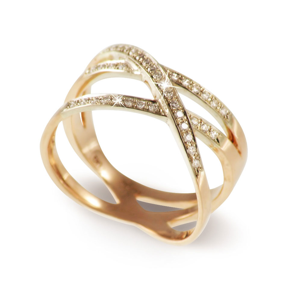 Diamond Open Loop Ring