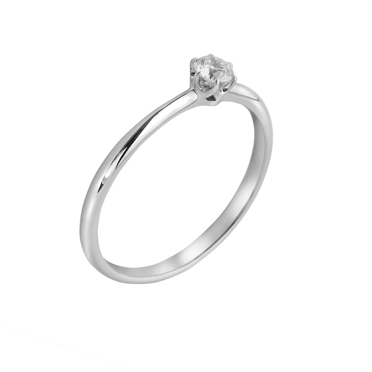 Solitaire Diamond White Gold Ring