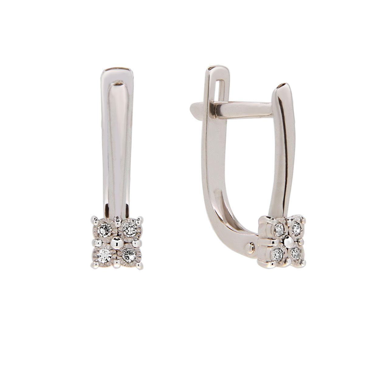 Butterfly Motif Diamond Leverback Earrings