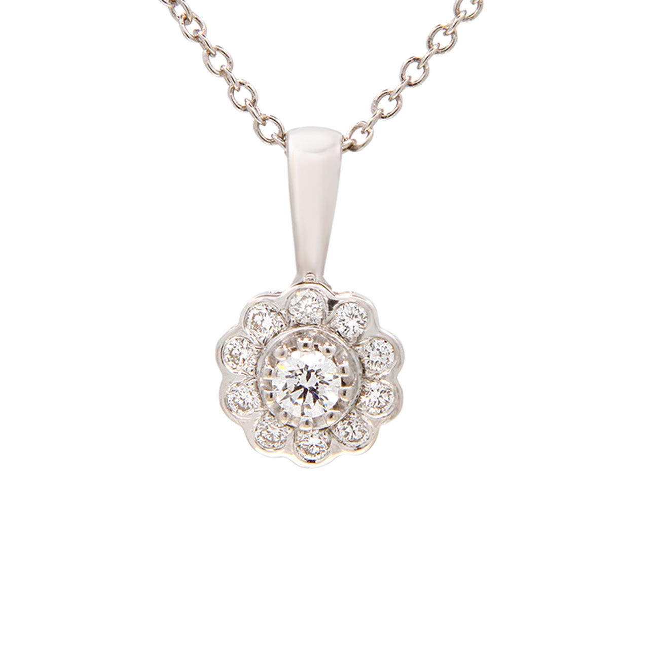 Raspberry Motif Diamond Pendant