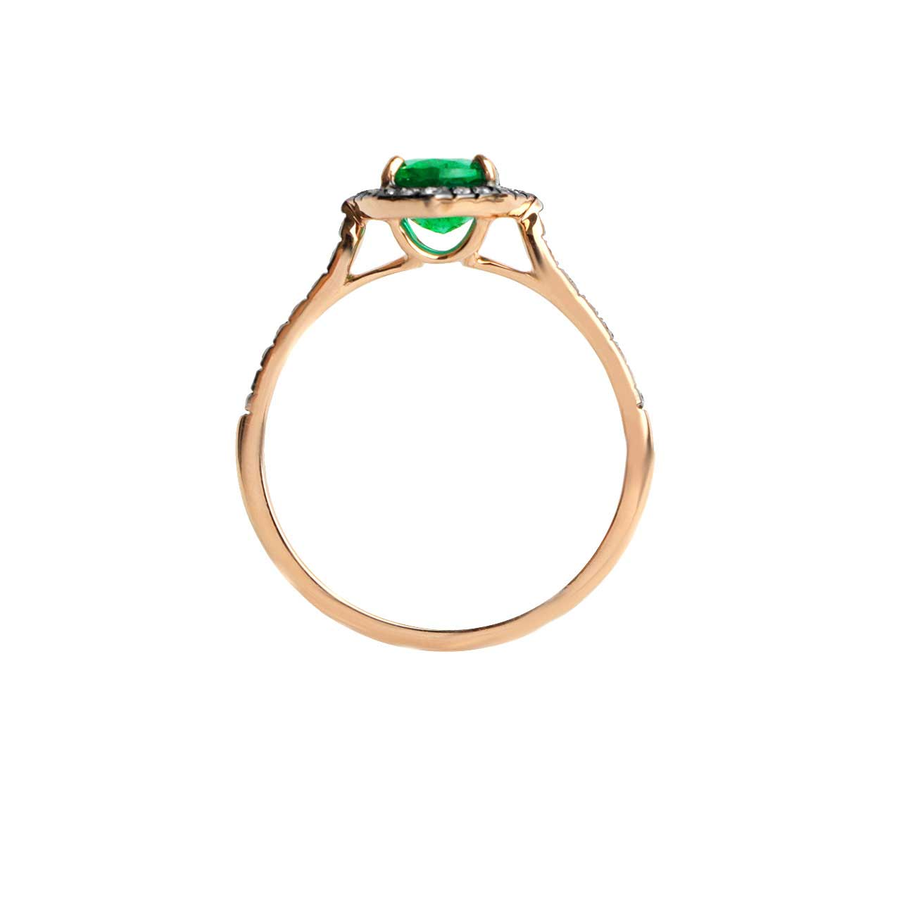 Art Deco Style Emerald Ring - Karatoff Series. View 2