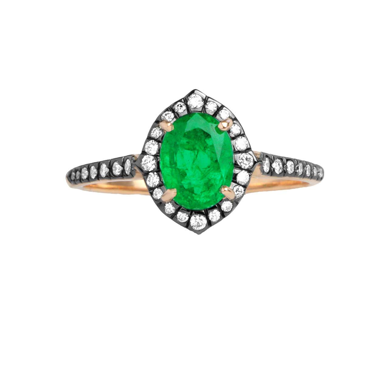 Art Deco Style Emerald Ring - Karatoff Series. View 3